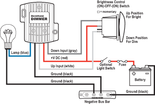 deckhand dimmer 12v dc 6a blue sea systems wiring diagram