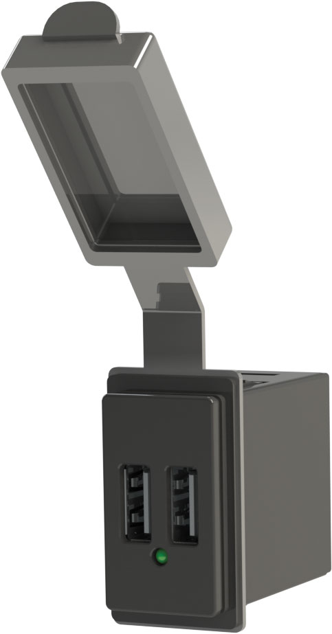 dual usb charger   12v contura mount   blue sea systems
