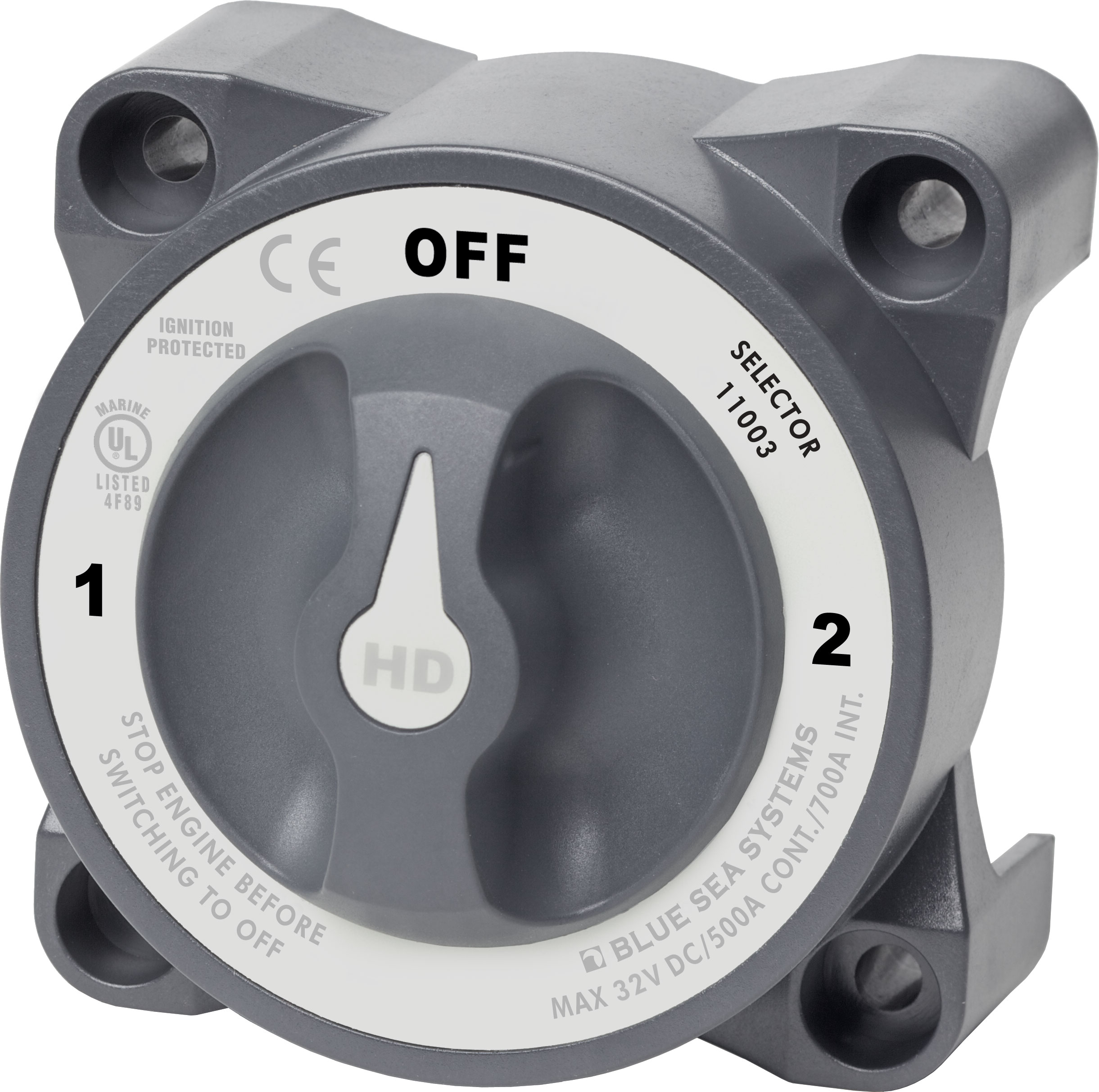 Hd-series Heavy Duty 3 Position Selector Battery Switch With Afd