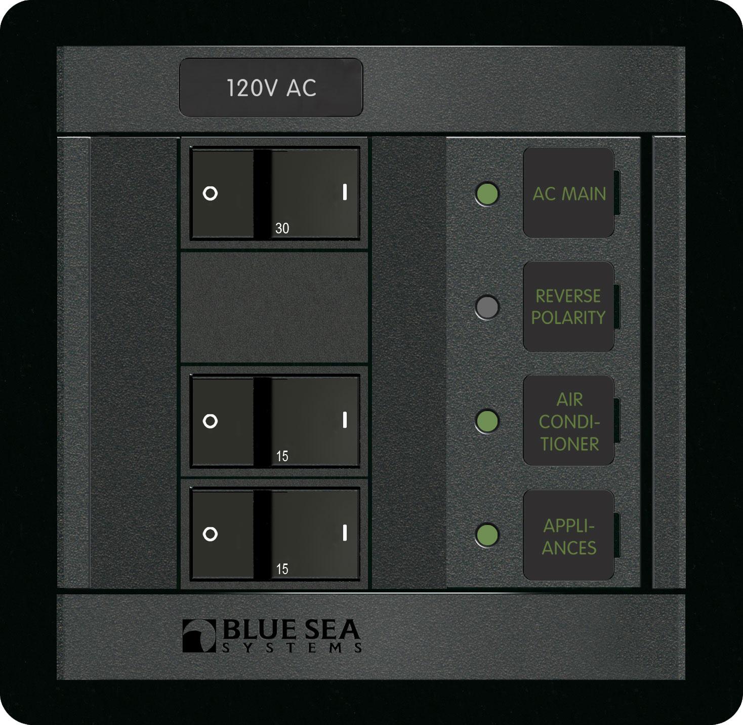 120 Volt AC Main + 2 Positions - Blue Sea Systems