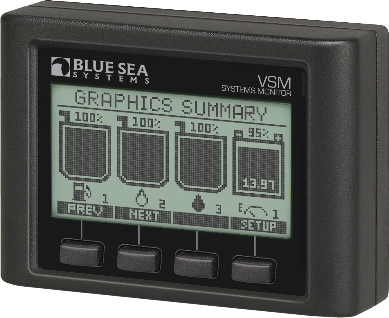 Vessel Systems Monitor Vsm 422 Boxed Blue Sea Part 1 Choosing The Correct Wire Size For A Dc Circuit Product Image