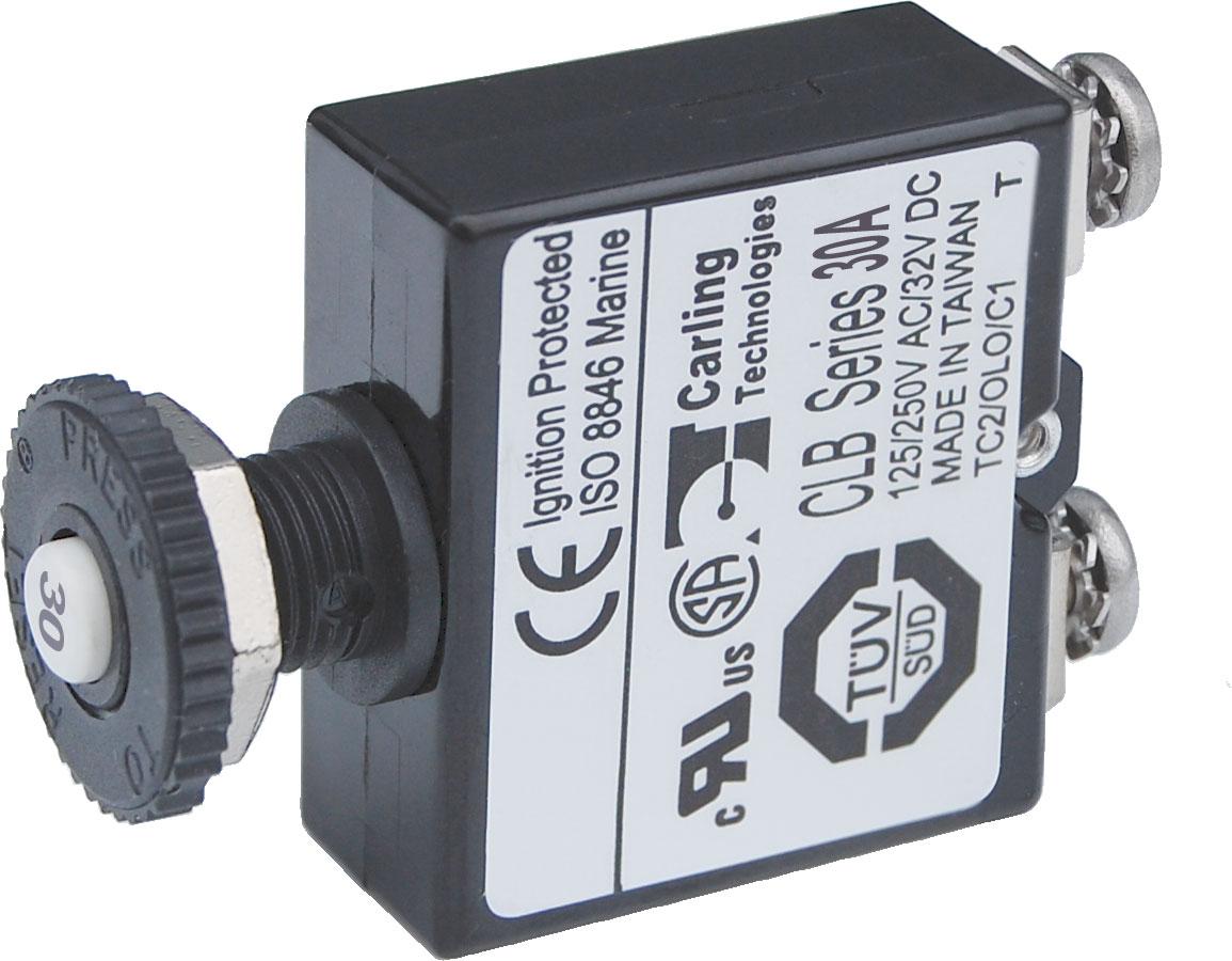 push button reset only screw terminal circuit breaker 30 ampspush button reset only screw terminal circuit breaker 30 amps