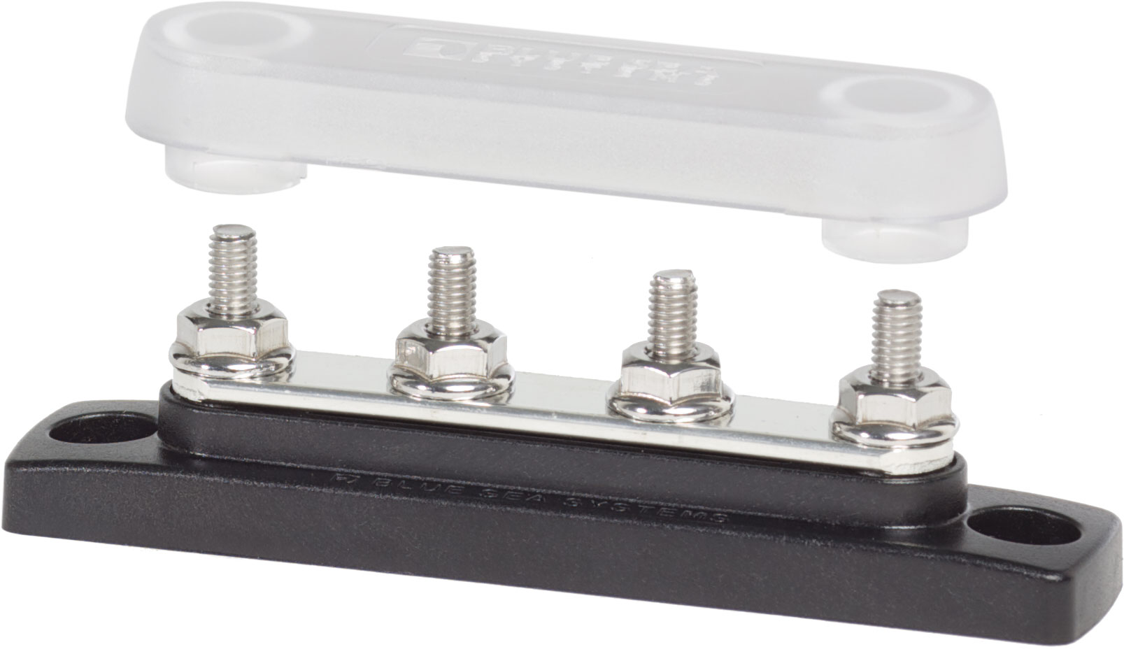 Common 100a Mini Busbar 4 Gang With Cover Blue Sea Systems