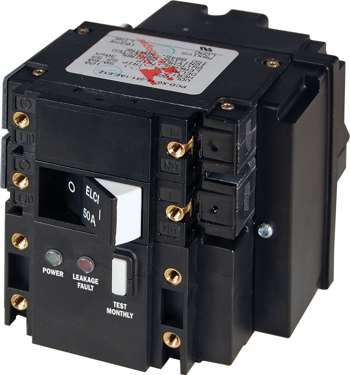 C Series Elci Circuit Breaker Double Pole 240v Ac 50a Blue Sea Switch Wiring Diagram Product Image