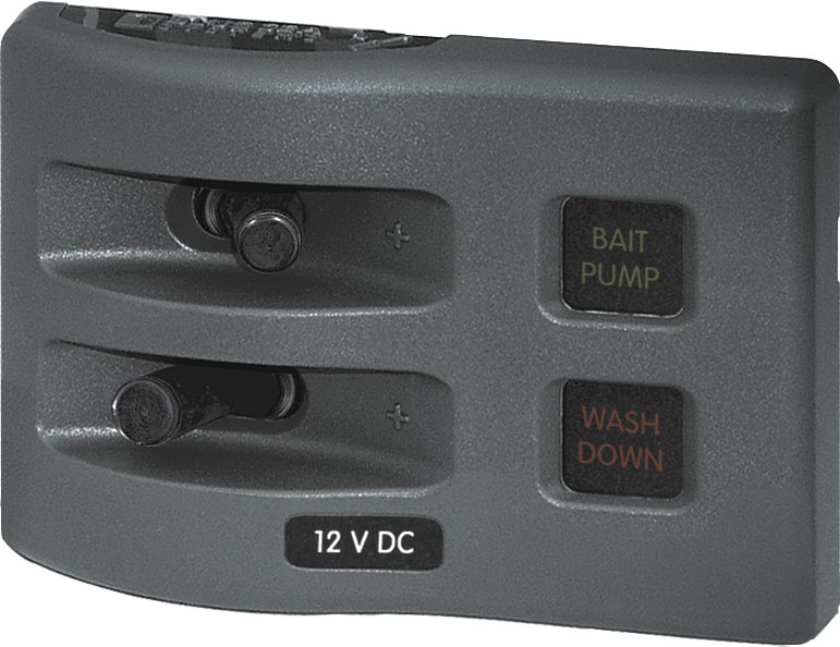 4302 weatherdeck� 12v dc waterproof fuse panel gray 2 positions Waterproof Fuse Holder at creativeand.co