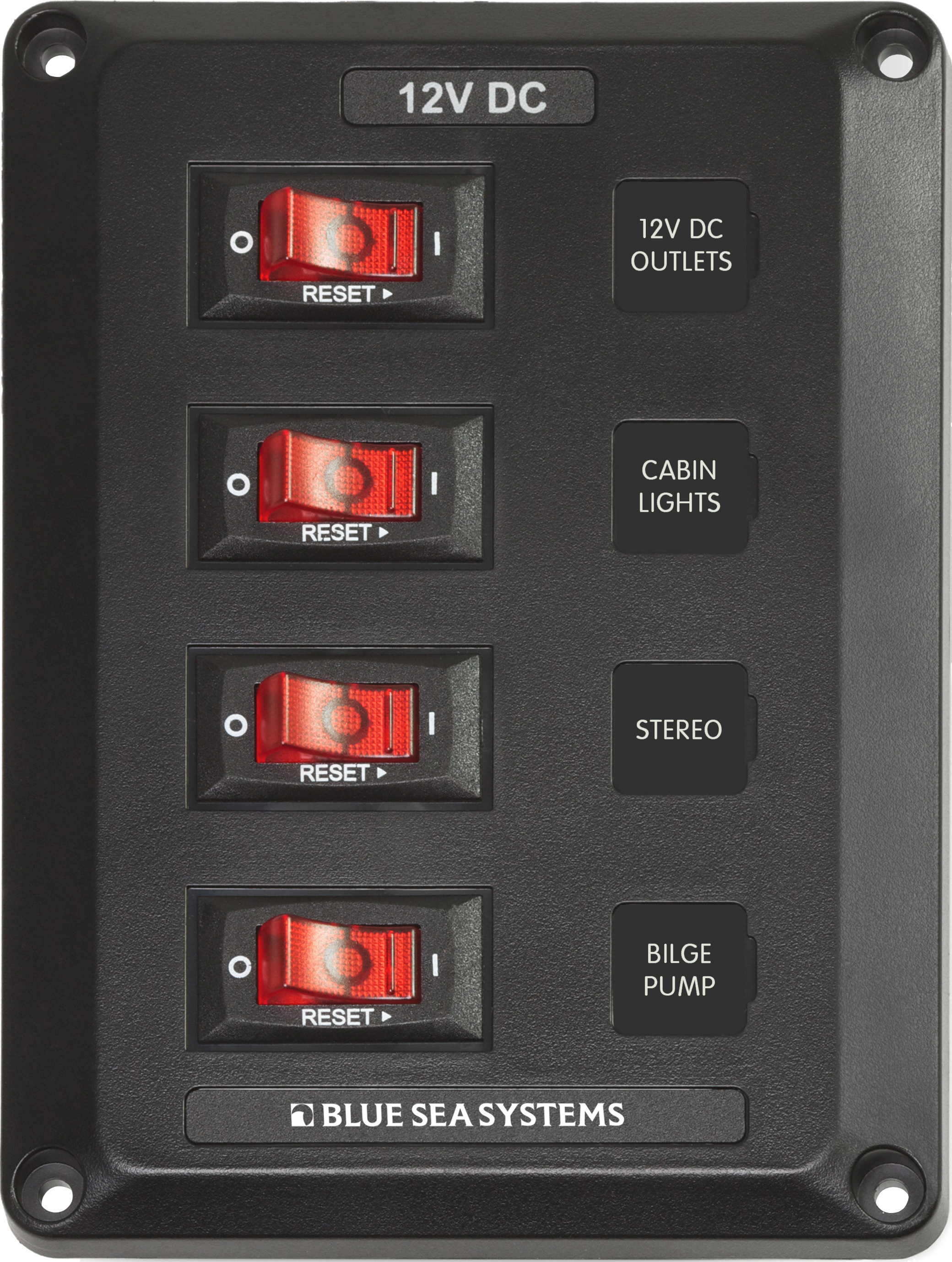 4 Position Belowdeck Circuit Breaker Panel Blue Sea Systems Wiring Main Product Image