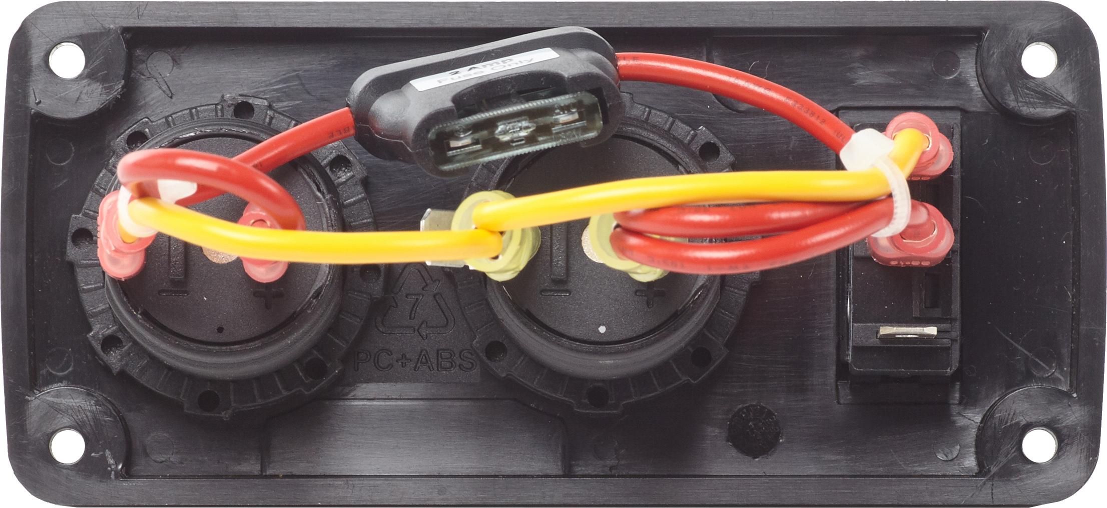 Belowdeck Panel 15a Circuit Breaker 12v Socket 21a Dual Usb Wiring Products Dc