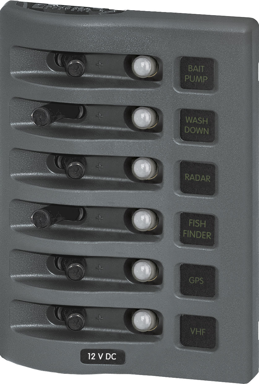 Weatherdeck 12v Dc Waterproof Circuit Breaker Panel Gray 6 Keypad Combination Lock Product Image