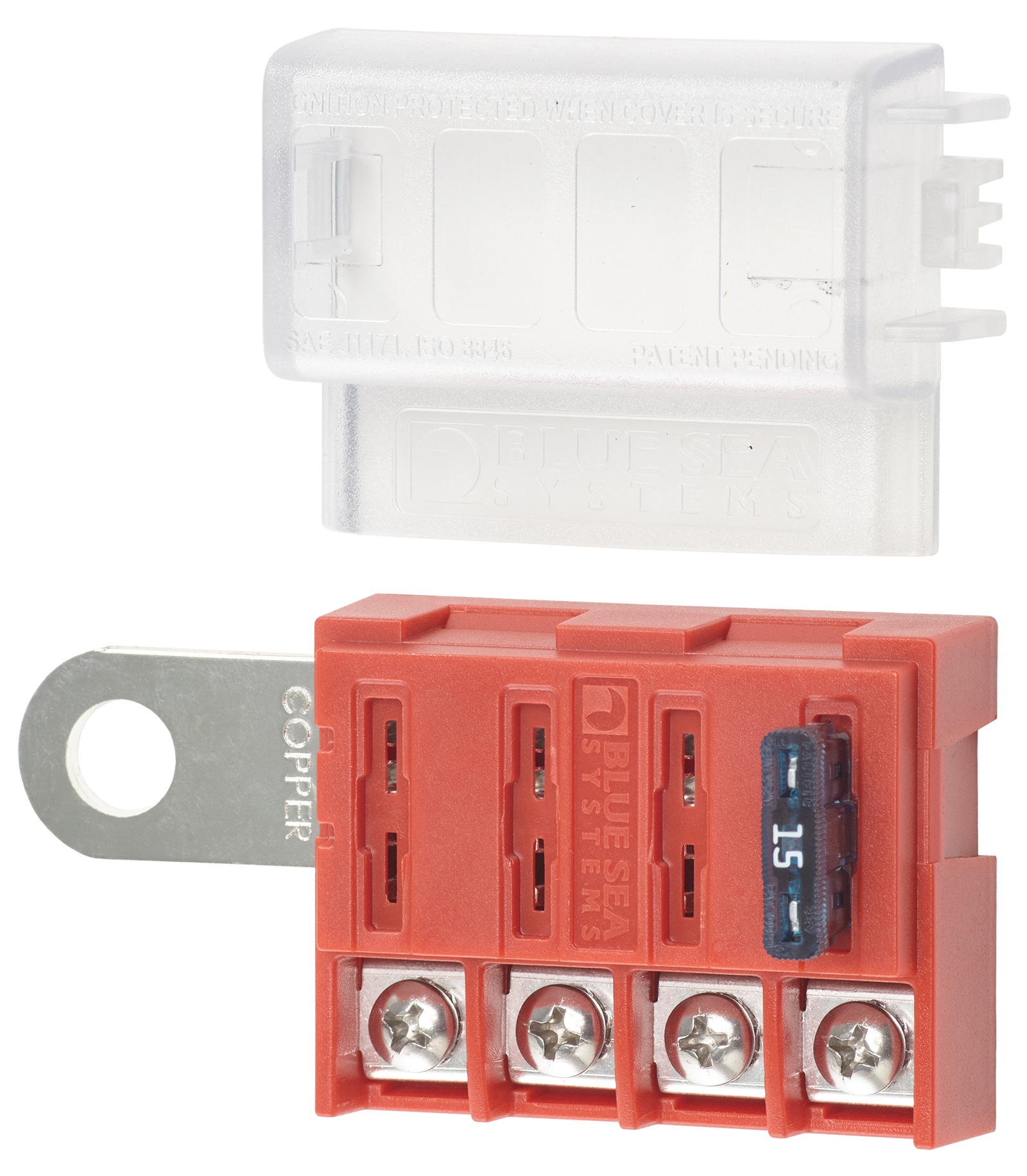 ST BLADE BATTERY TERMINAL MOUNT FUSE BLOCK/BOX
