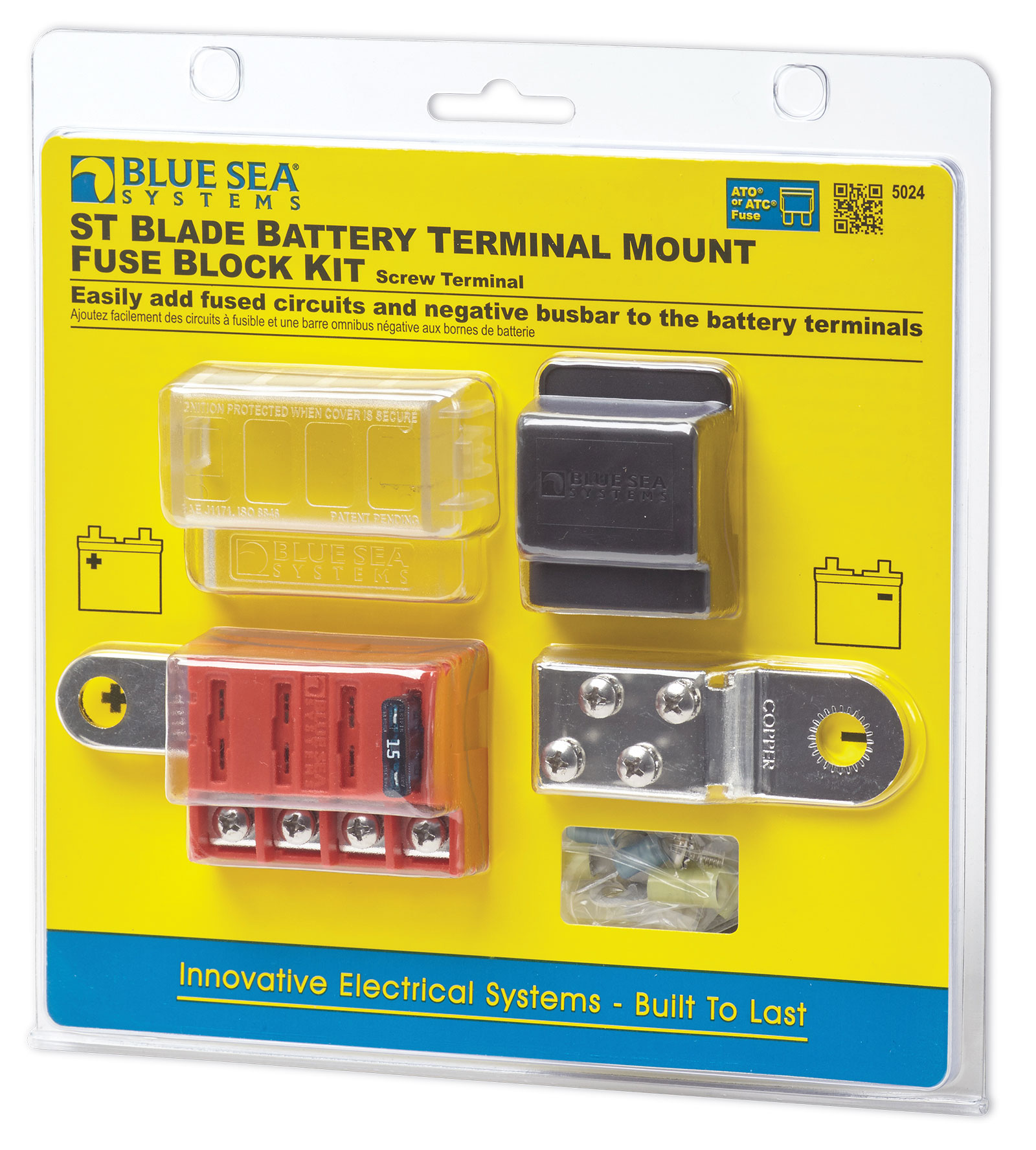 St Blade Battery Terminal Mount Fuse Block Kit Blue Sea Systems Switch Wiring Diagram Product Image