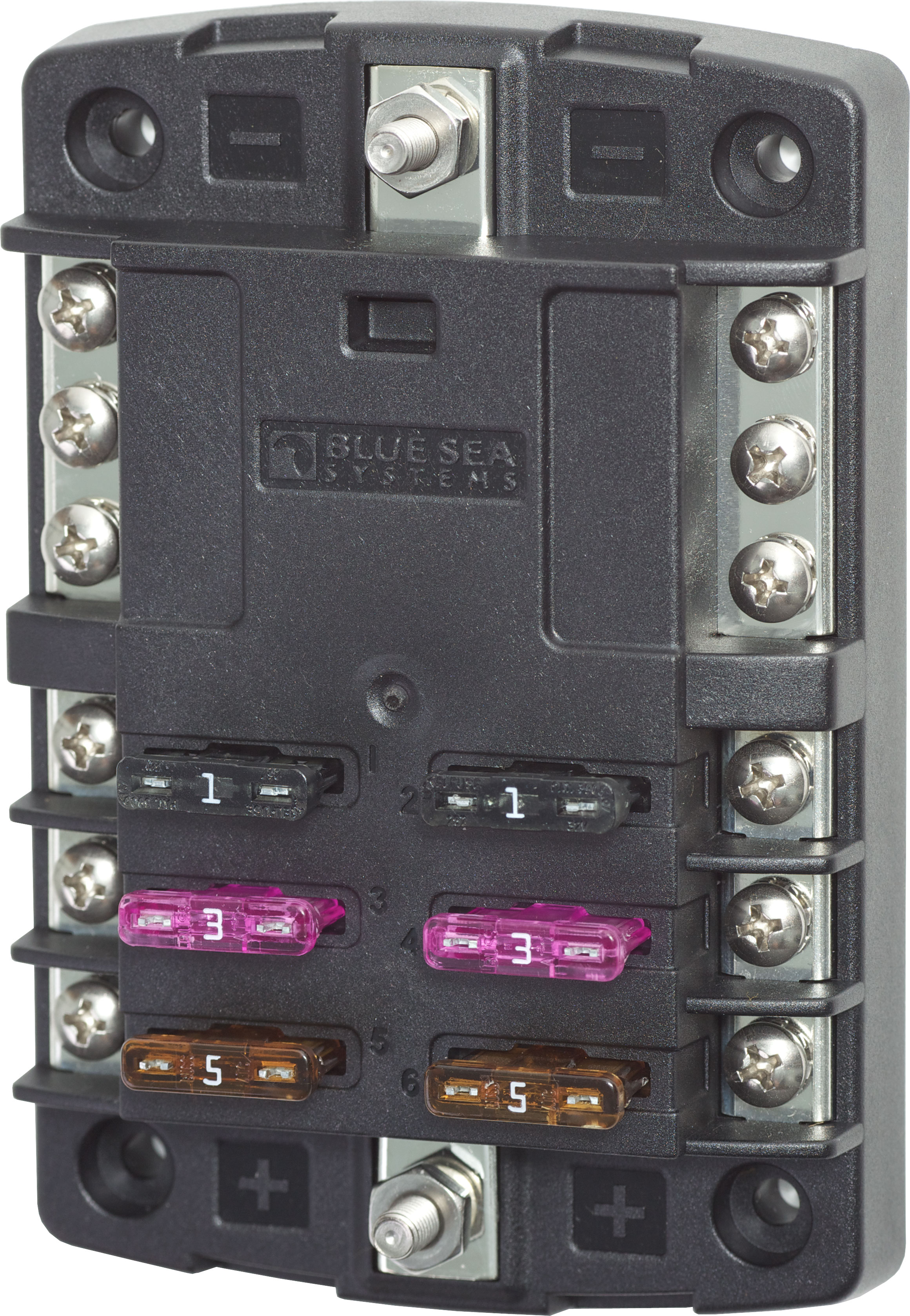 st blade fuse block 6 circuits negative bus blue sea systems product image