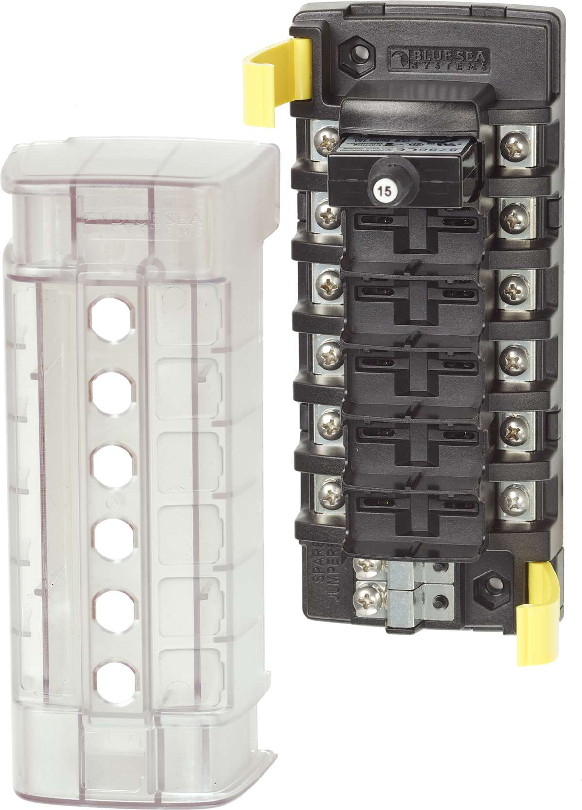 St Clb Circuit Breaker Block 6 Independent Circuits Blue Sea Systems Breakers Load Centers Fuses Miniature Product Image Click For Larger And Other Images Blocks