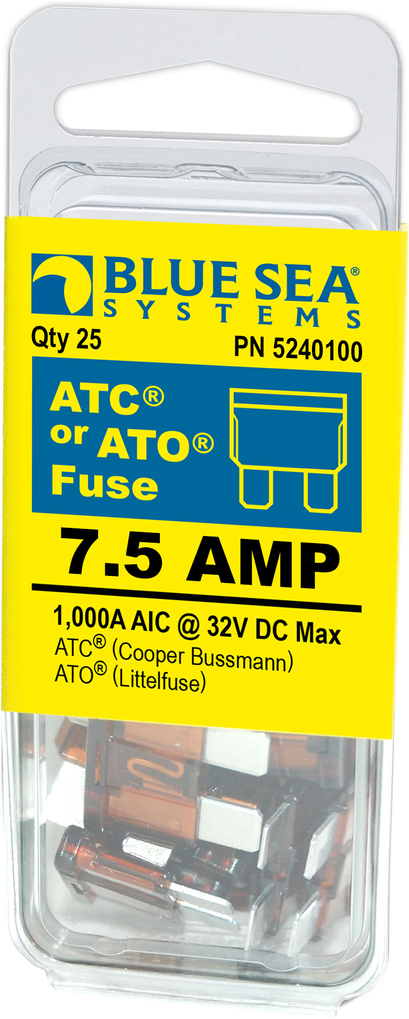 Vs Ato Fuse Tac Series Blade Fuses Automotive Passenger Car From Littelfuse Mini Addacircuit Product Details Pep Boys Atc 7 5a Pack 25 Blue Sea Systems