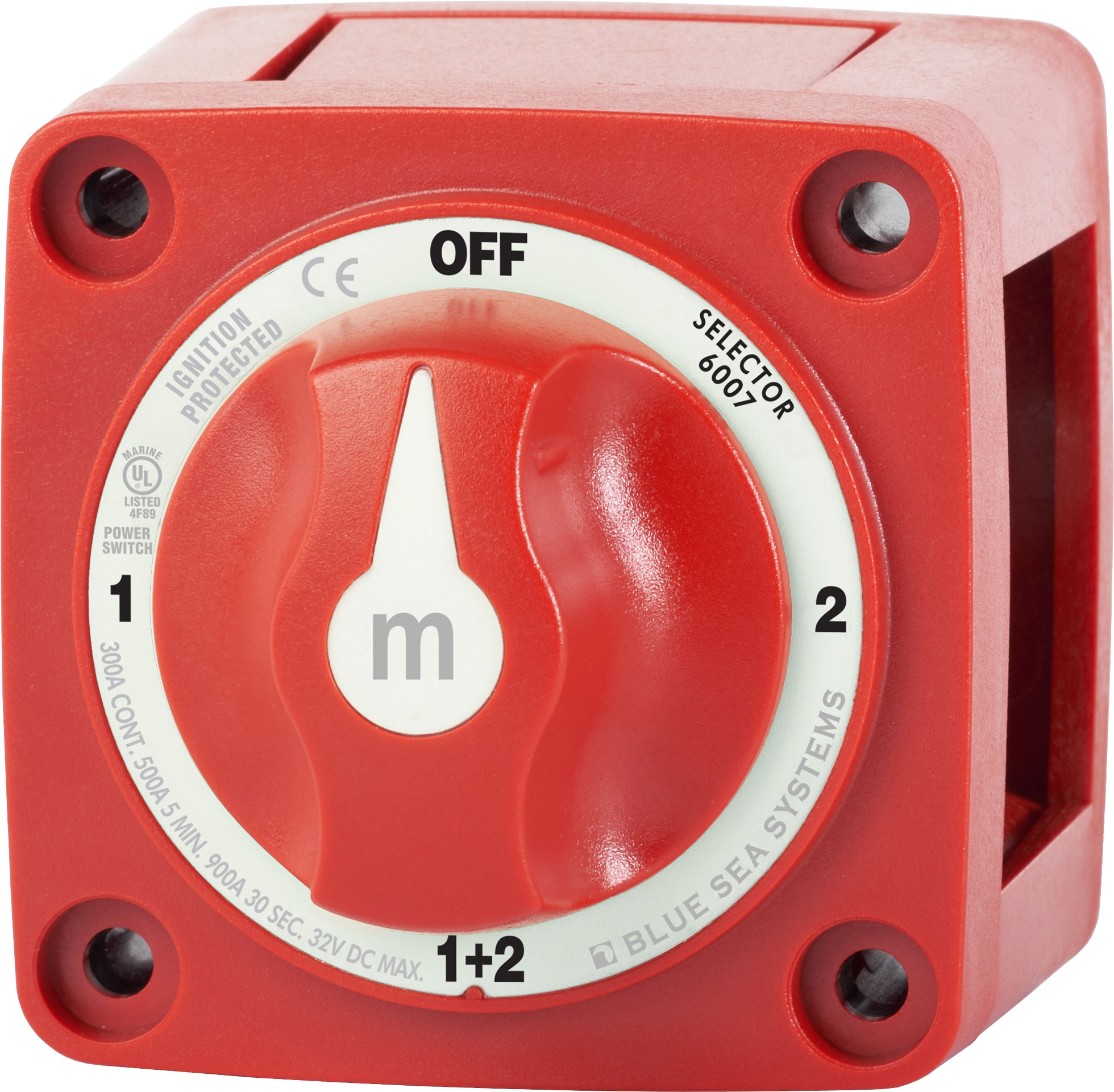 m-Series Mini Selector Battery Switch - Red - Blue Sea Systems