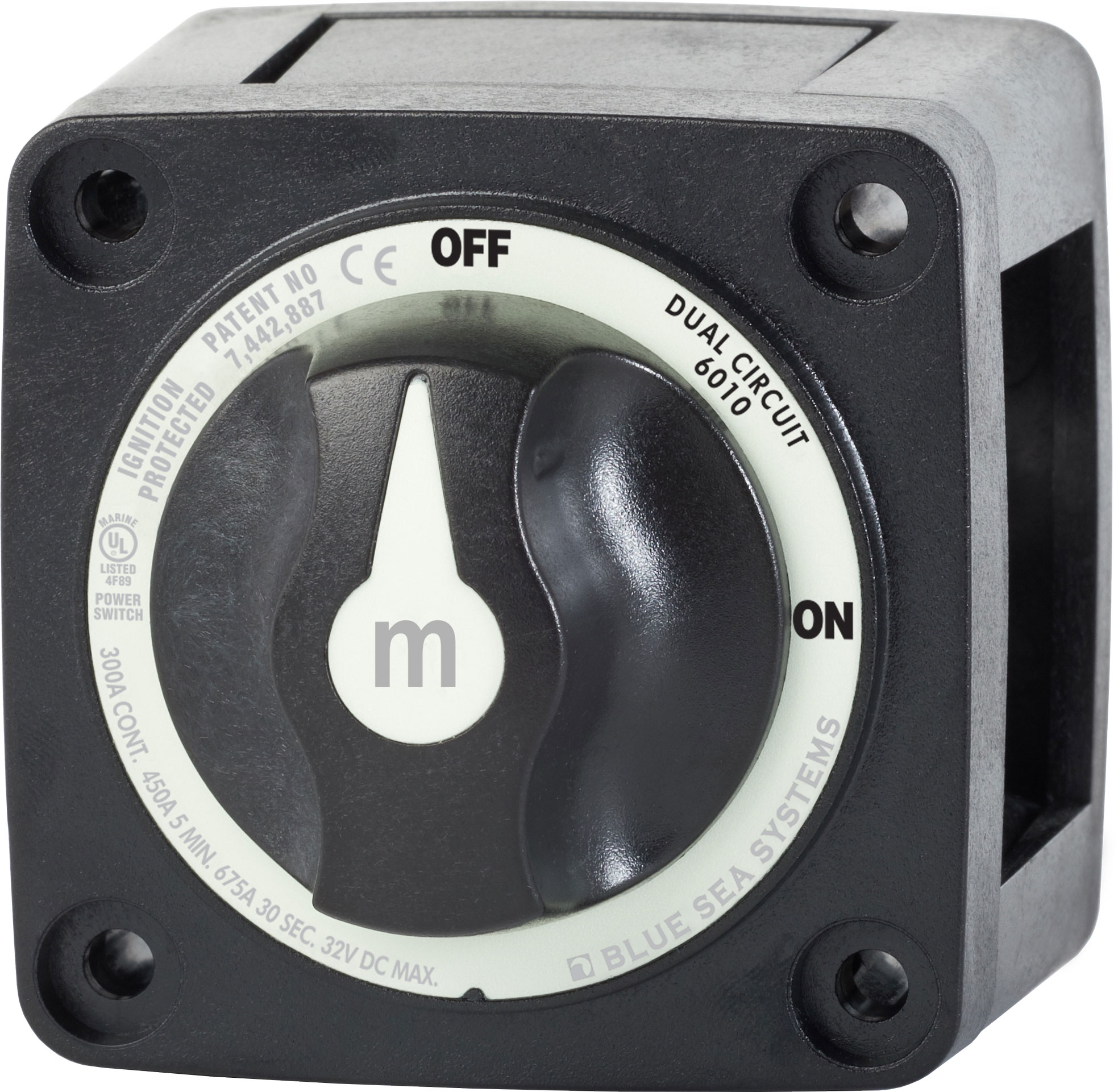 M-series Mini Dual Circuit Battery Switch - Black
