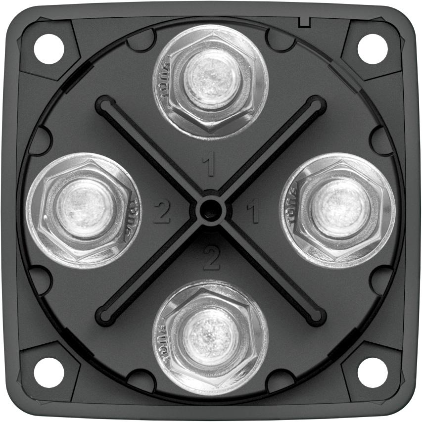 M-series Mini Dual Circuit Plus U2122 Battery Switch - Black