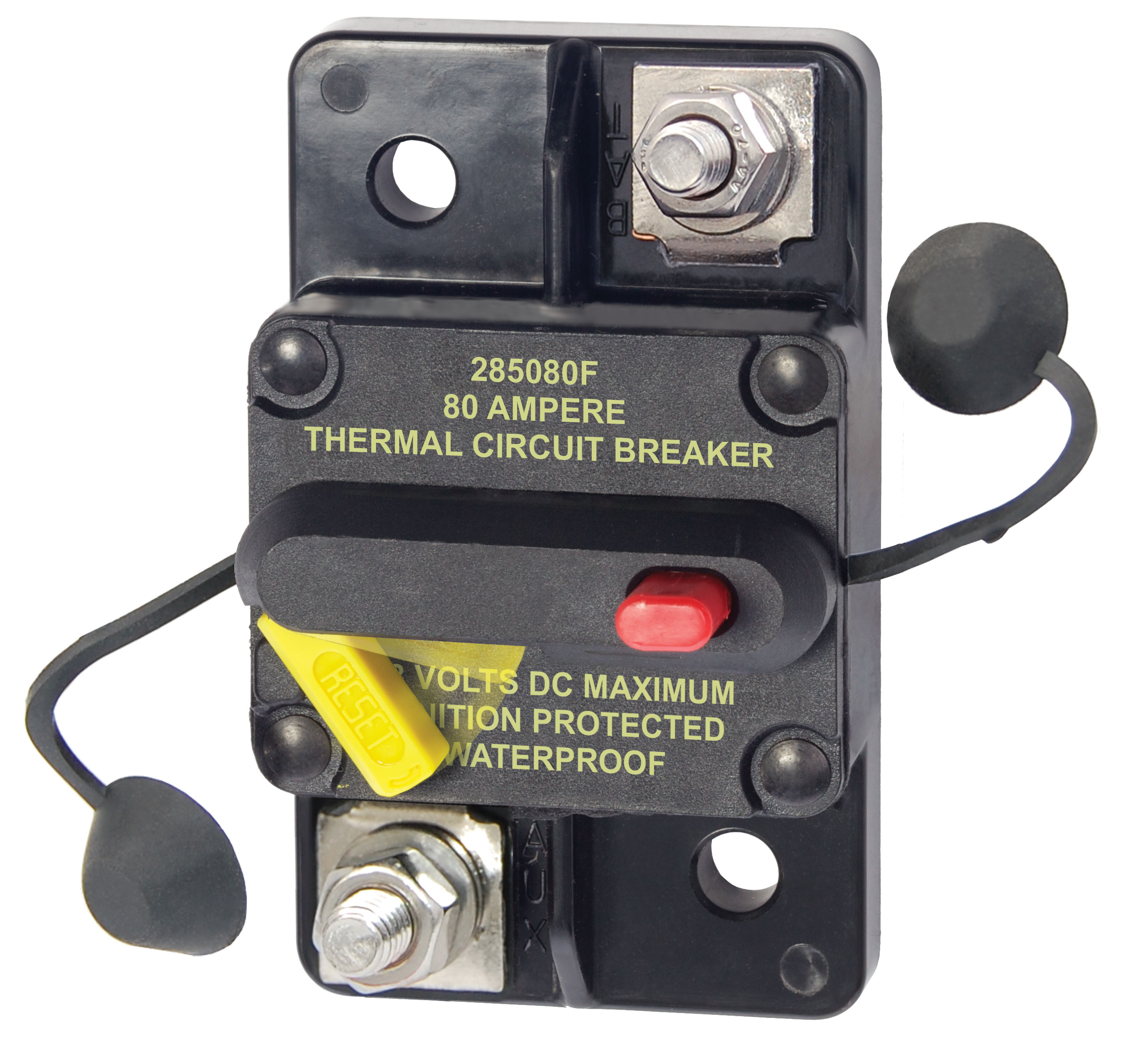 285 Series Circuit Breaker Surface Mount 80a Blue Sea Systems Details About Push Button 5 Amp For 12 24 50 Volts Dc Product Image Breakers