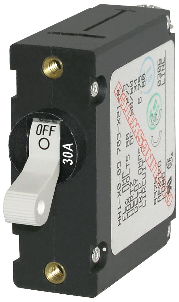 A Series White Toggle Circuit Breaker Single Pole 30a