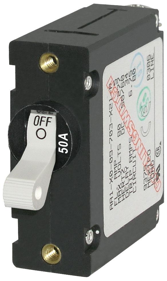 A Series White Toggle Circuit Breaker Single Pole 50a