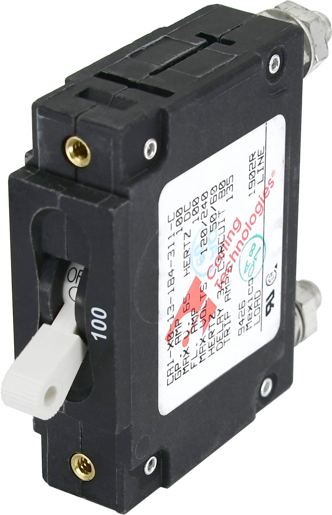 C-Series White Toggle Circuit Breaker - Single Pole 100 Amp - Blue ...