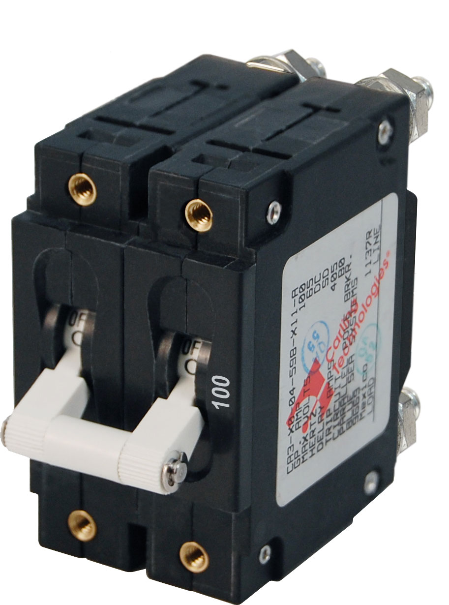 C-Series White Toggle Circuit Breaker - Double Pole 100 Amp - Blue ...