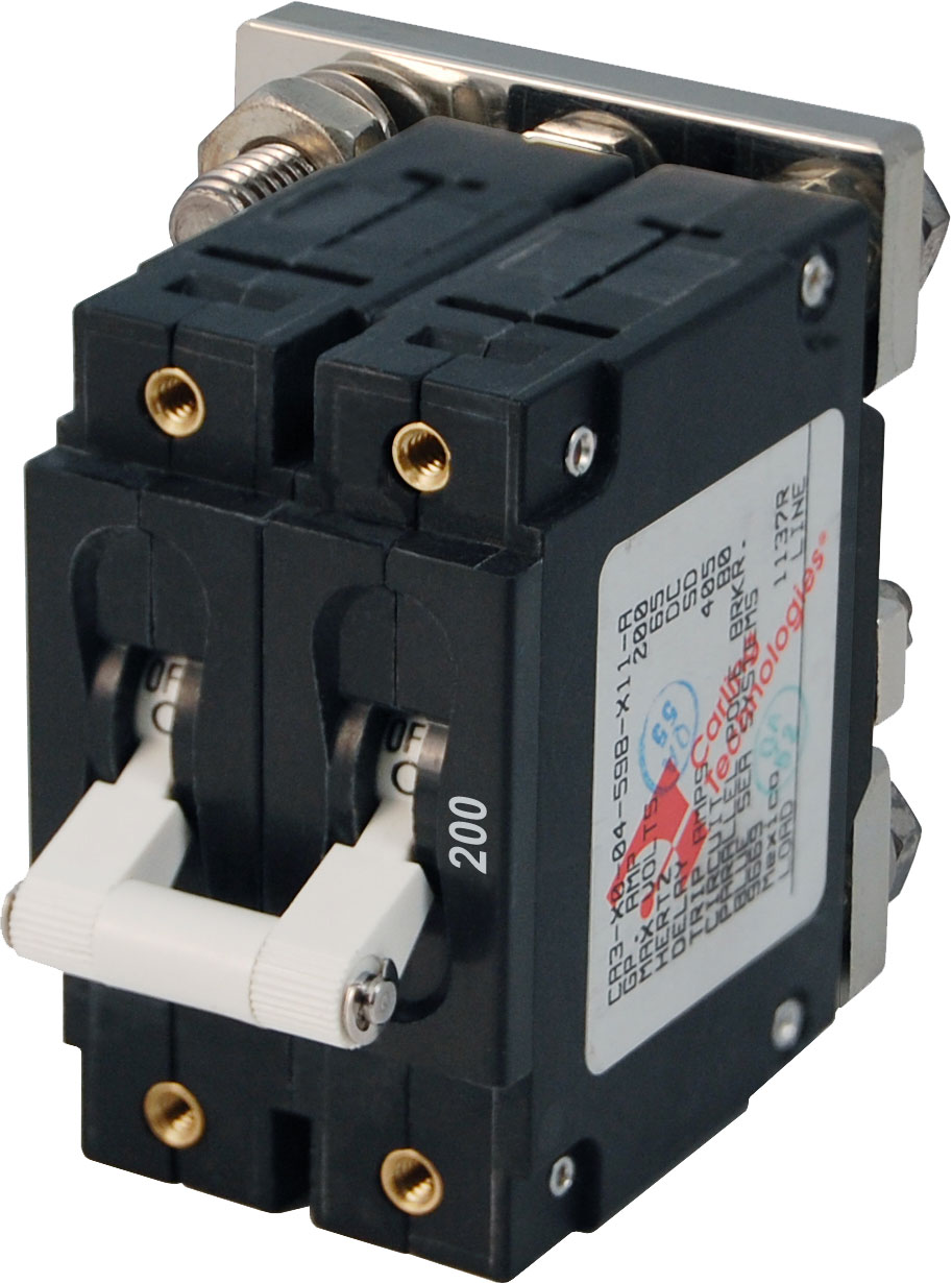 C Series White Toggle Circuit Breaker Double Pole 200