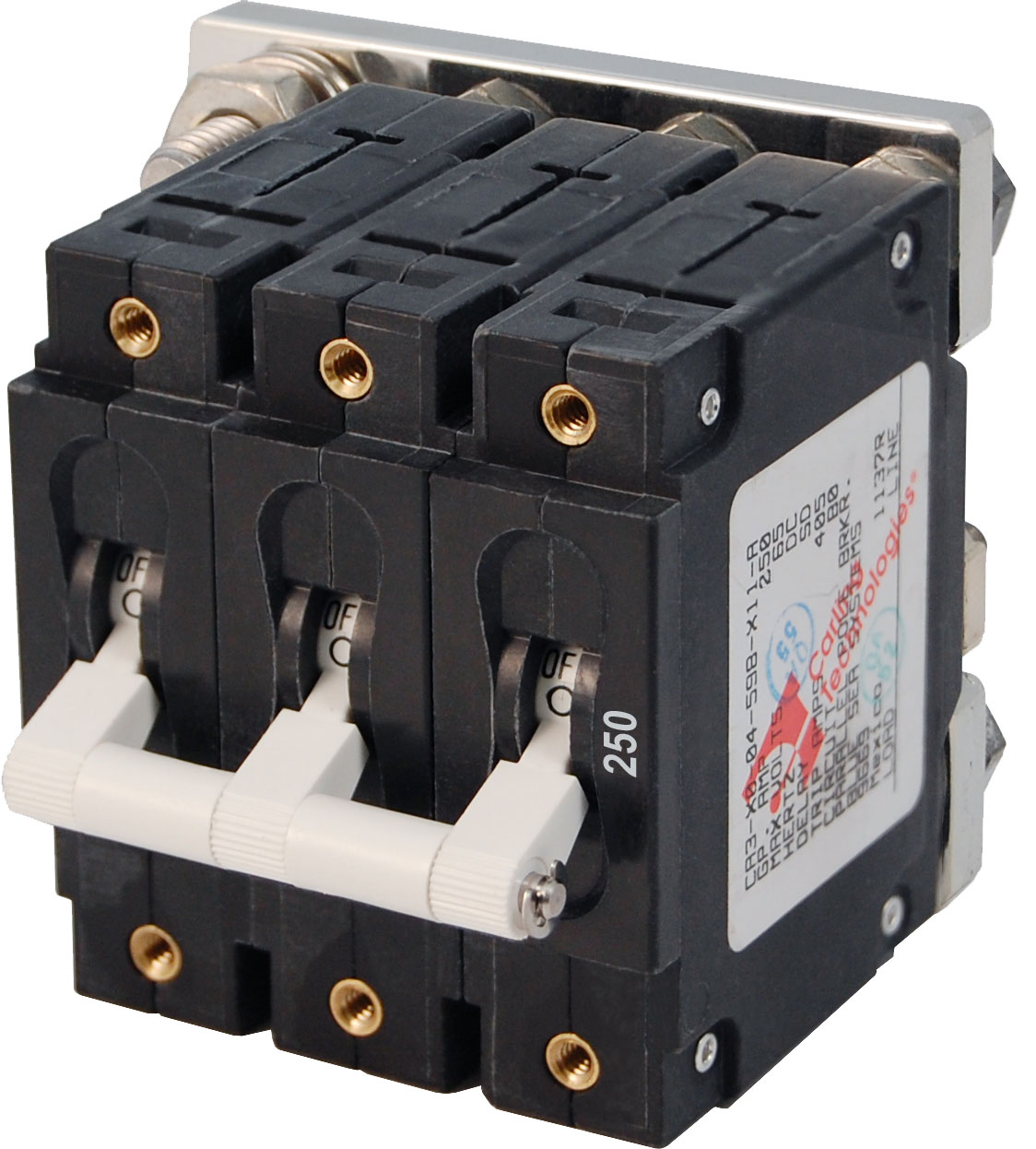 C Series White Toggle Circuit Breaker Triple Pole 250