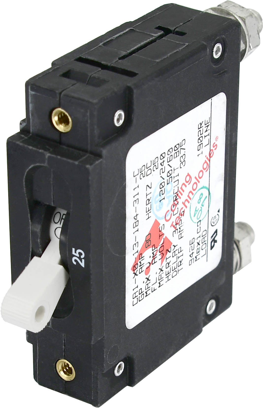 C-Series White Toggle Circuit Breaker - Single Pole 25 Amp - Blue ...