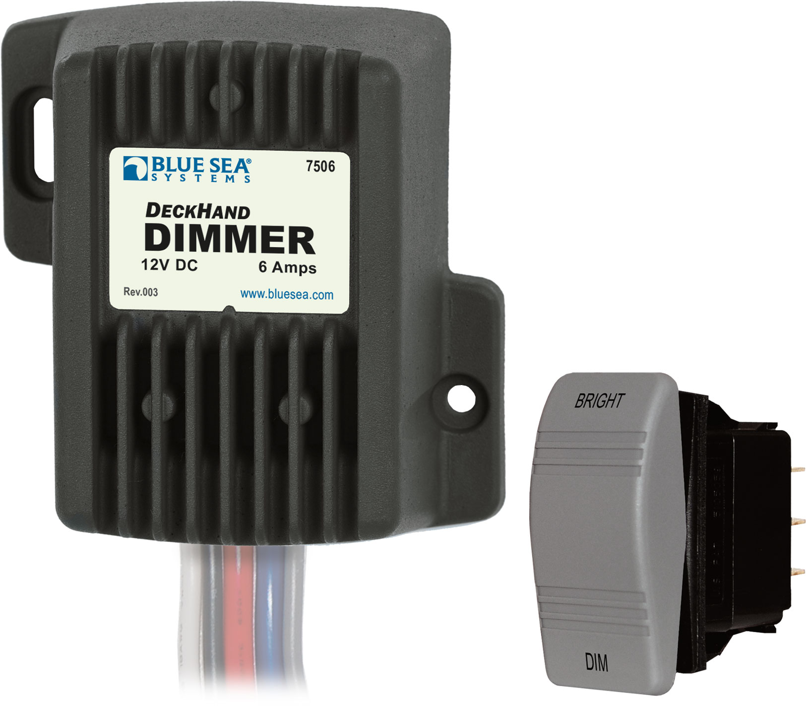 Deckhand Dimmer 12v Dc 6a Blue Sea Systems Solenoid Wiring Diagram Product Image
