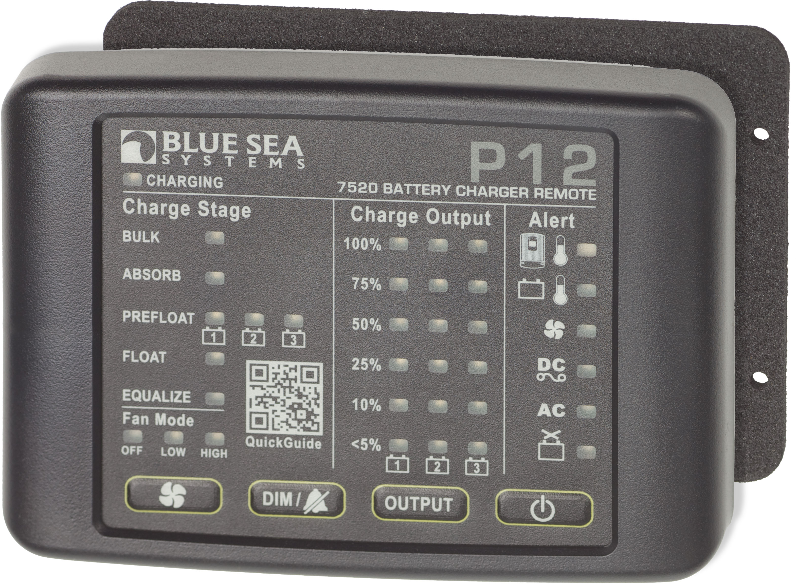 p12 battery charger led remote blue sea systems product image