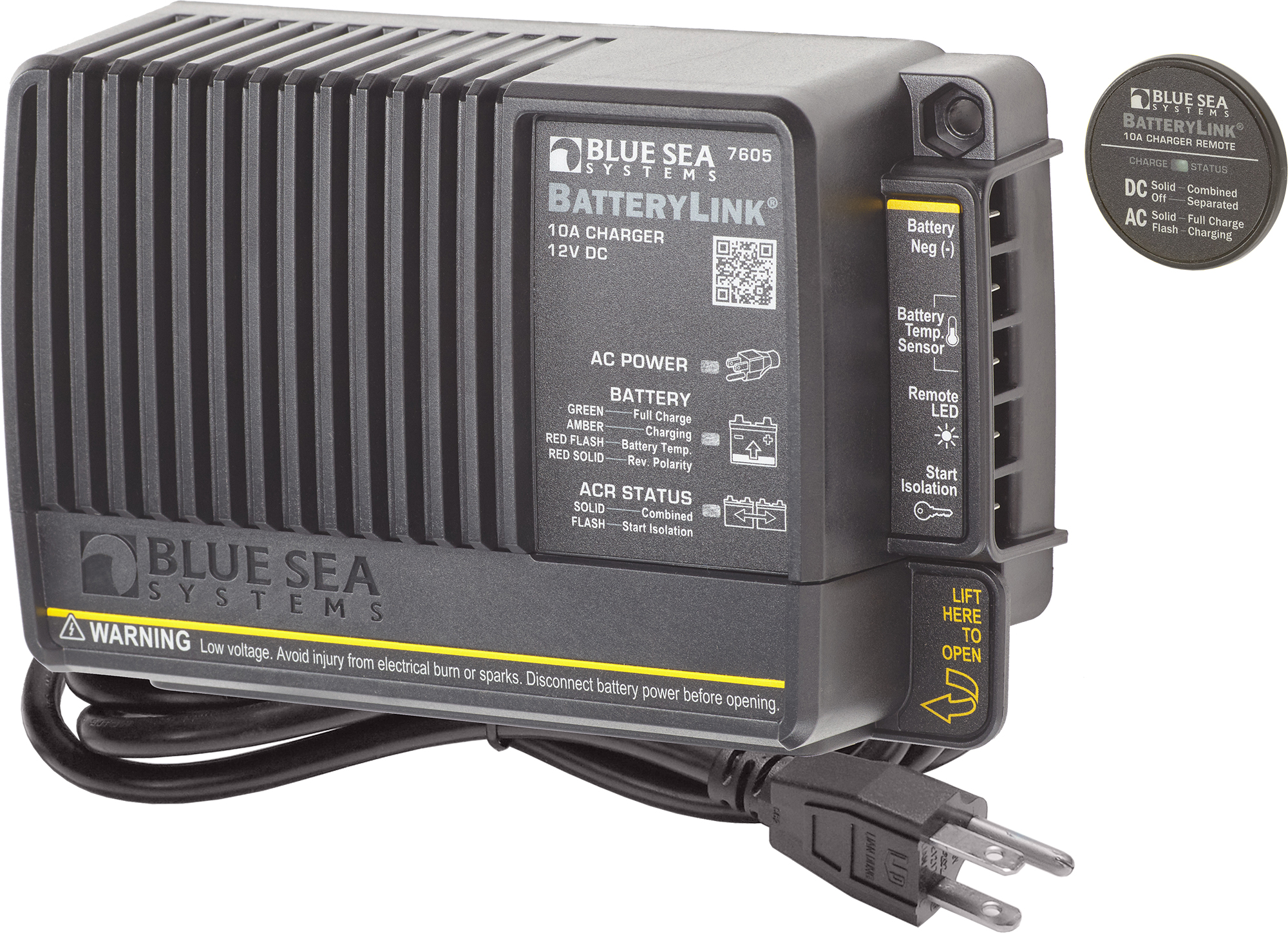 10A BatteryLink® Charger (North America) - Blue Sea Systems on blue sea acr with two engines, blue sea 7650 installation, blue sea battery selector wiring, carolina skiff diagram, blue sea fuse block wiring diagram,