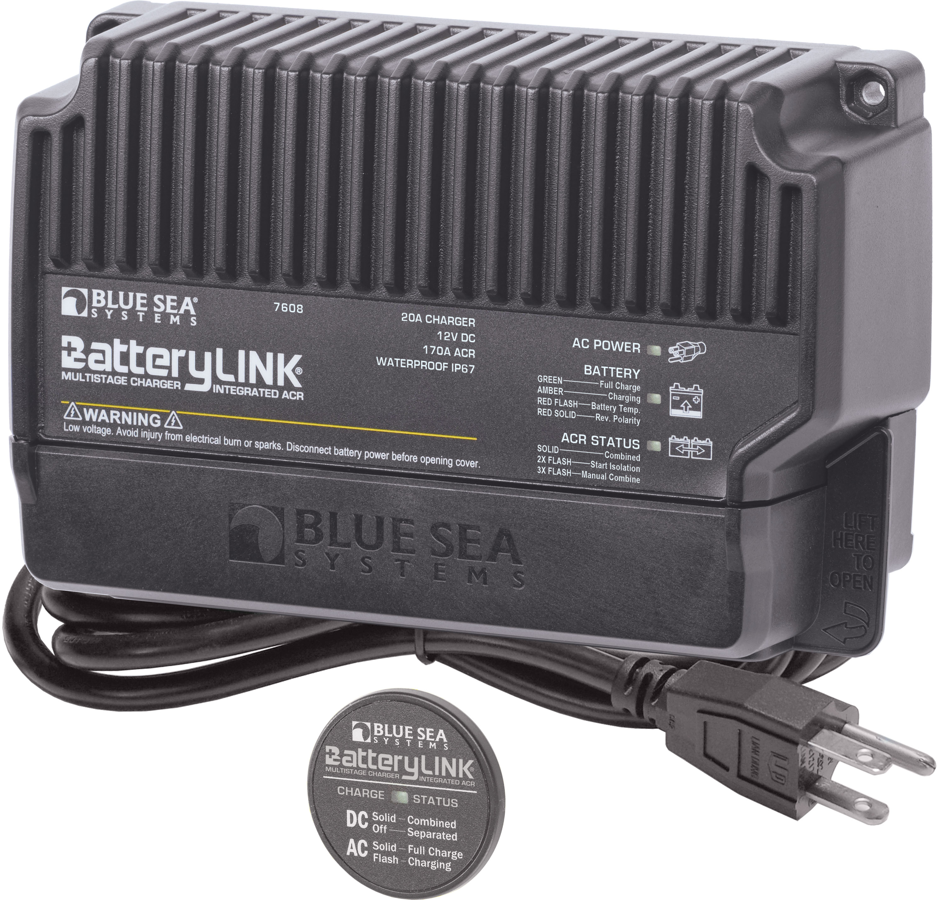 20a Batterylink Charger North America Blue Sea Systems Solenoid Wiring Diagram Product Image
