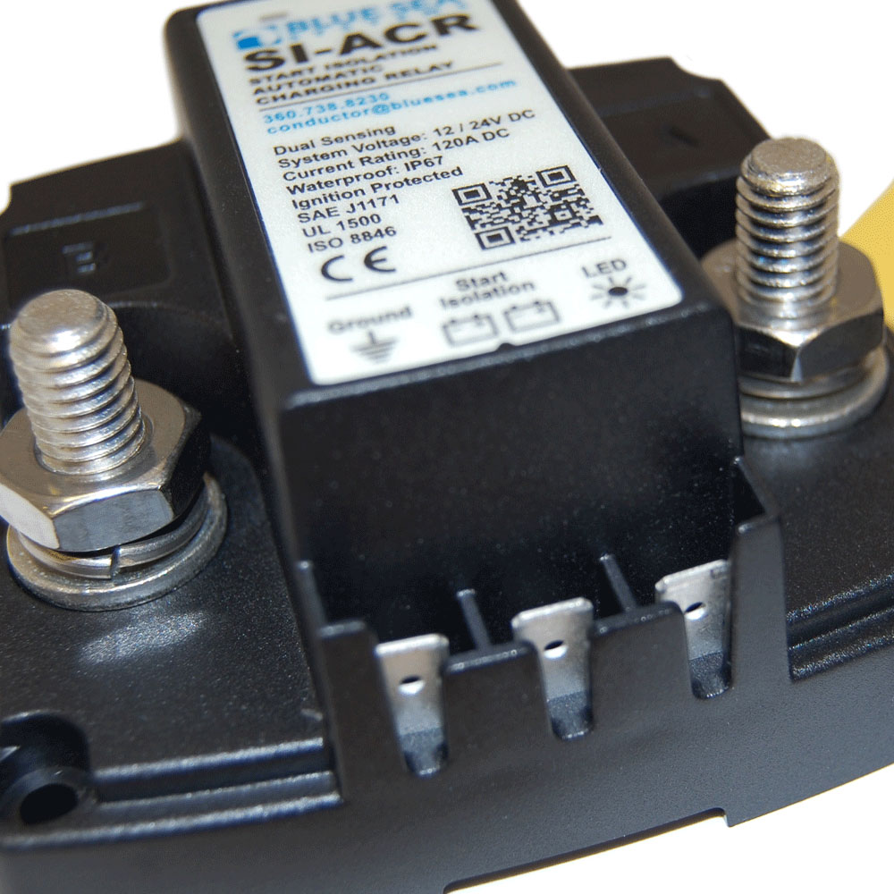 24 Volt Marine Battery >> SI-ACR Automatic Charging Relay - 12/24V DC 120A - Blue Sea Systems
