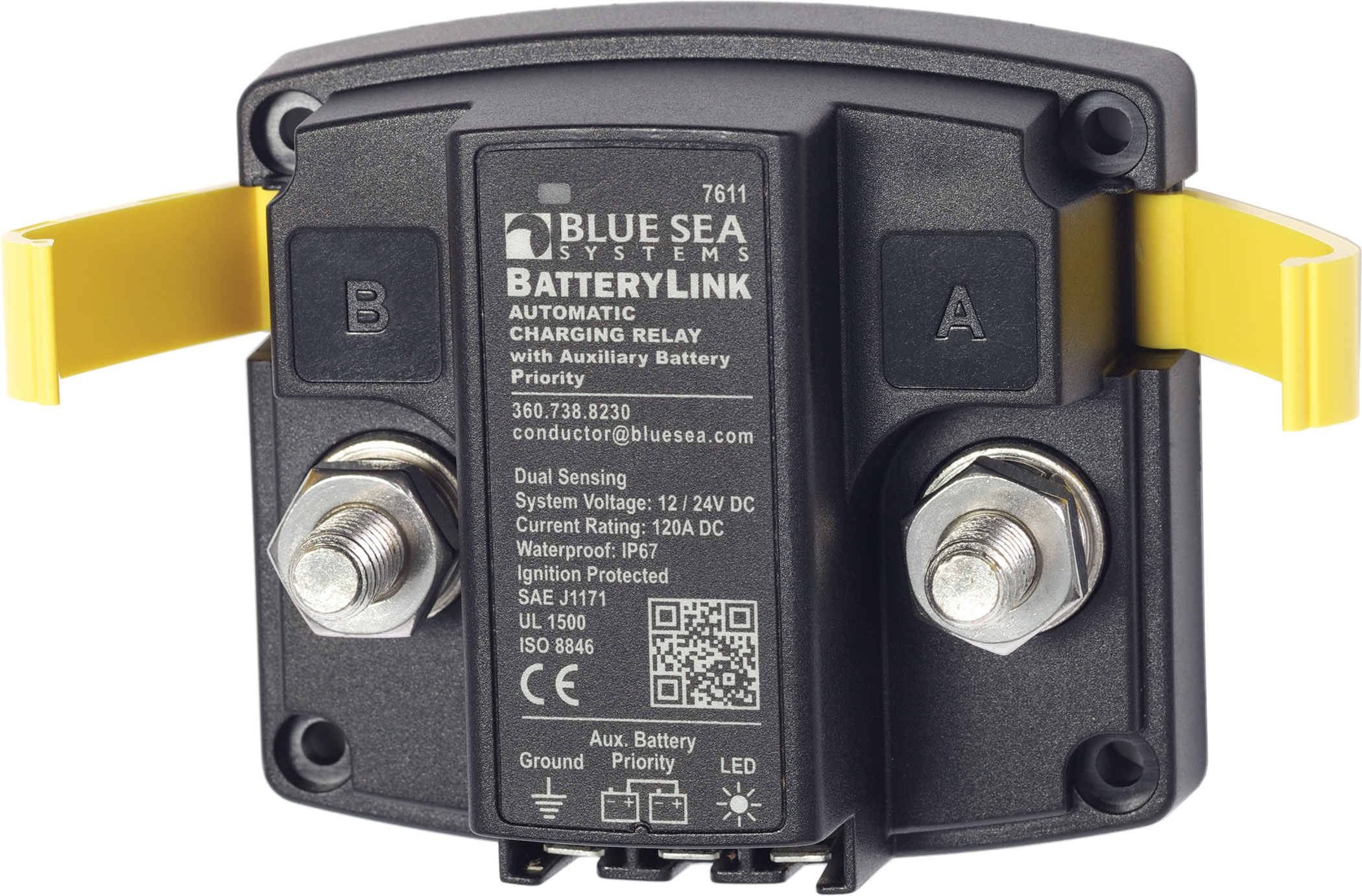BatteryLink™ Automatic Charging Relay - 12V/24V DC 120A - Blue Sea on blue sea fuse block wiring diagram, blue sea acr with two engines, blue sea battery selector wiring, blue sea 7650 installation, carolina skiff diagram,