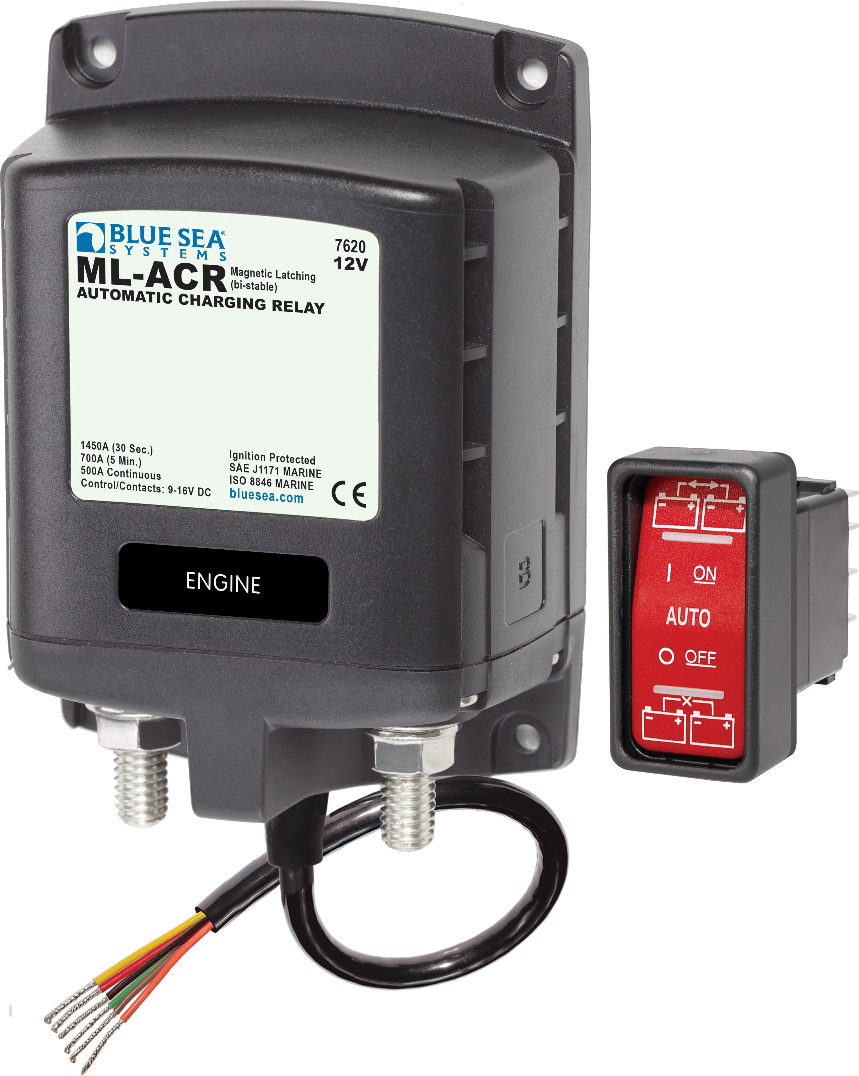 MLACR Automatic Charging Relay V DC A Blue Sea Systems - 12v low voltage protection relay