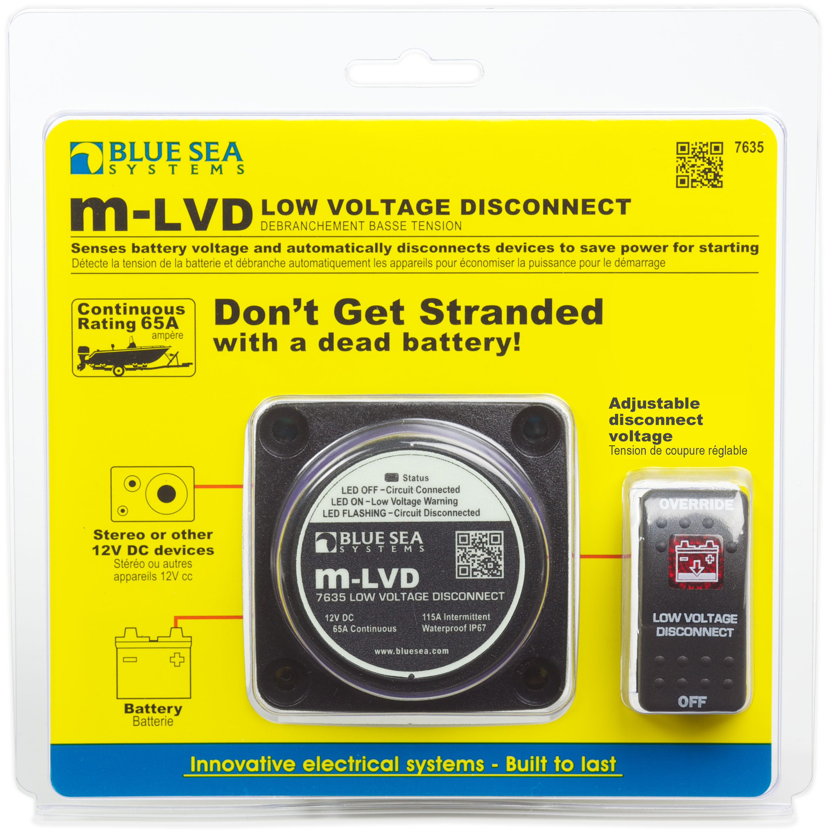 MLVD Low Voltage Disconnect Blue Sea Systems - 12v low voltage protection relay