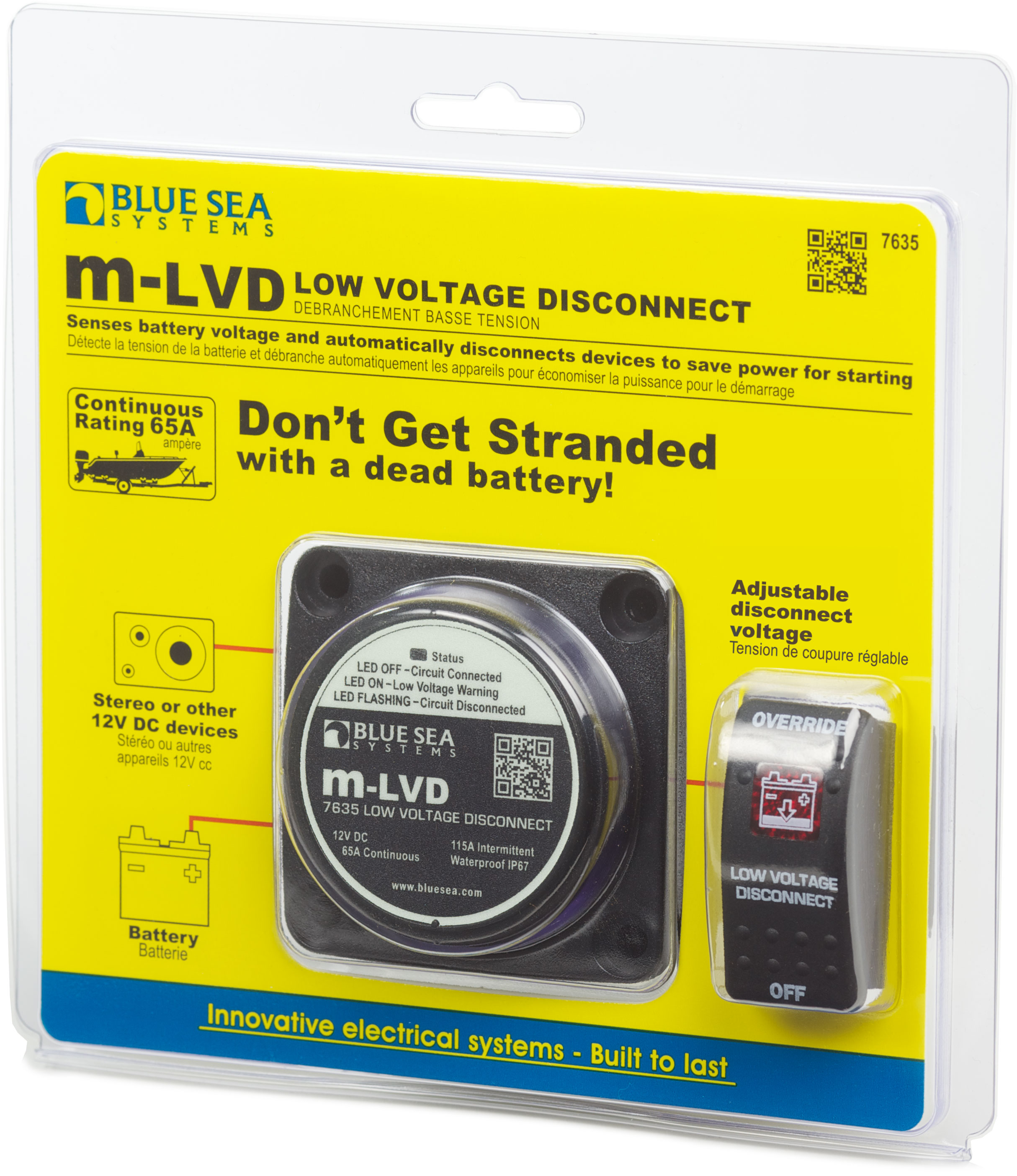 m-LVD Low Voltage Disconnect - Blue Sea Systems