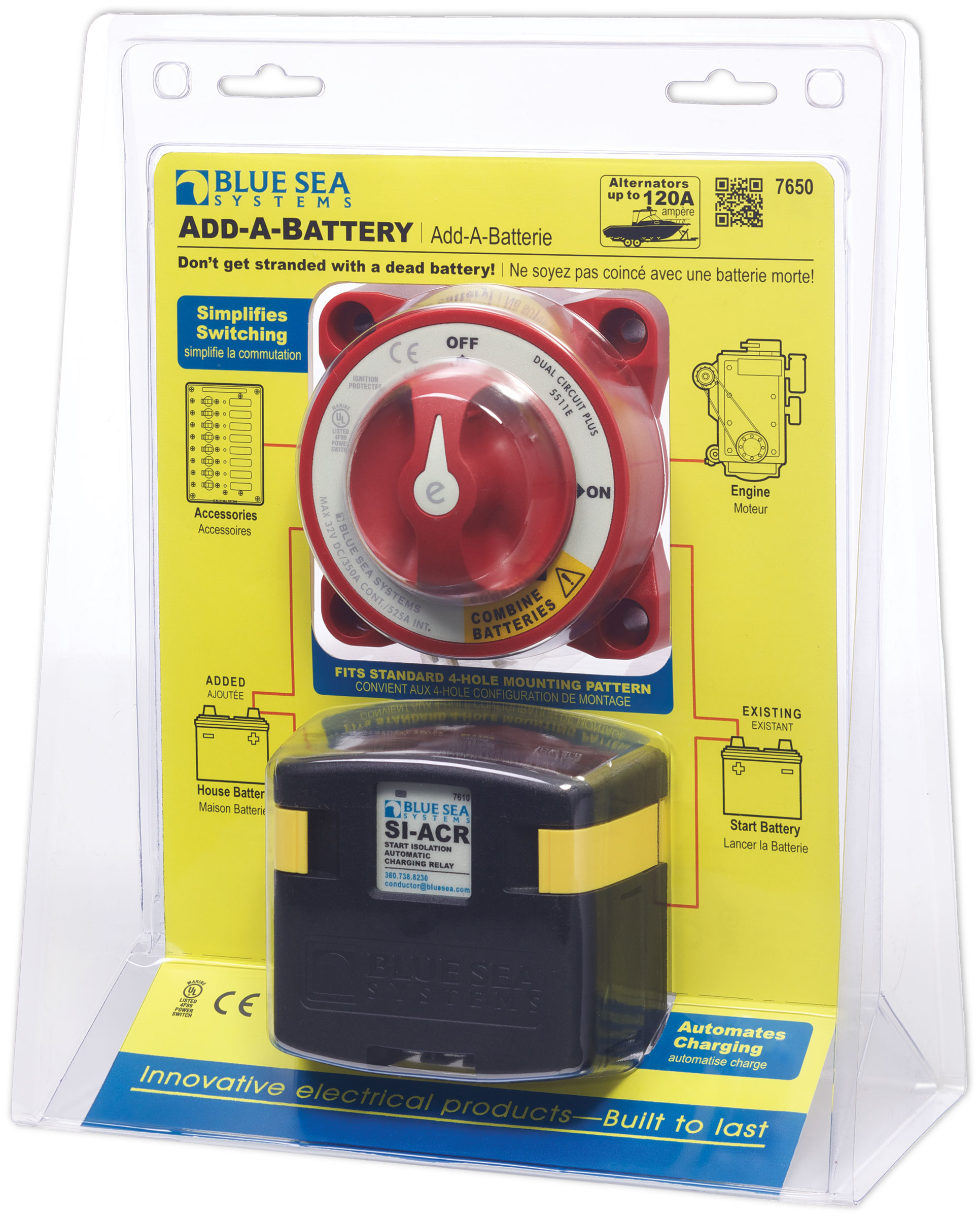 Add-A-Battery Kit - 120A - Blue Sea Systems