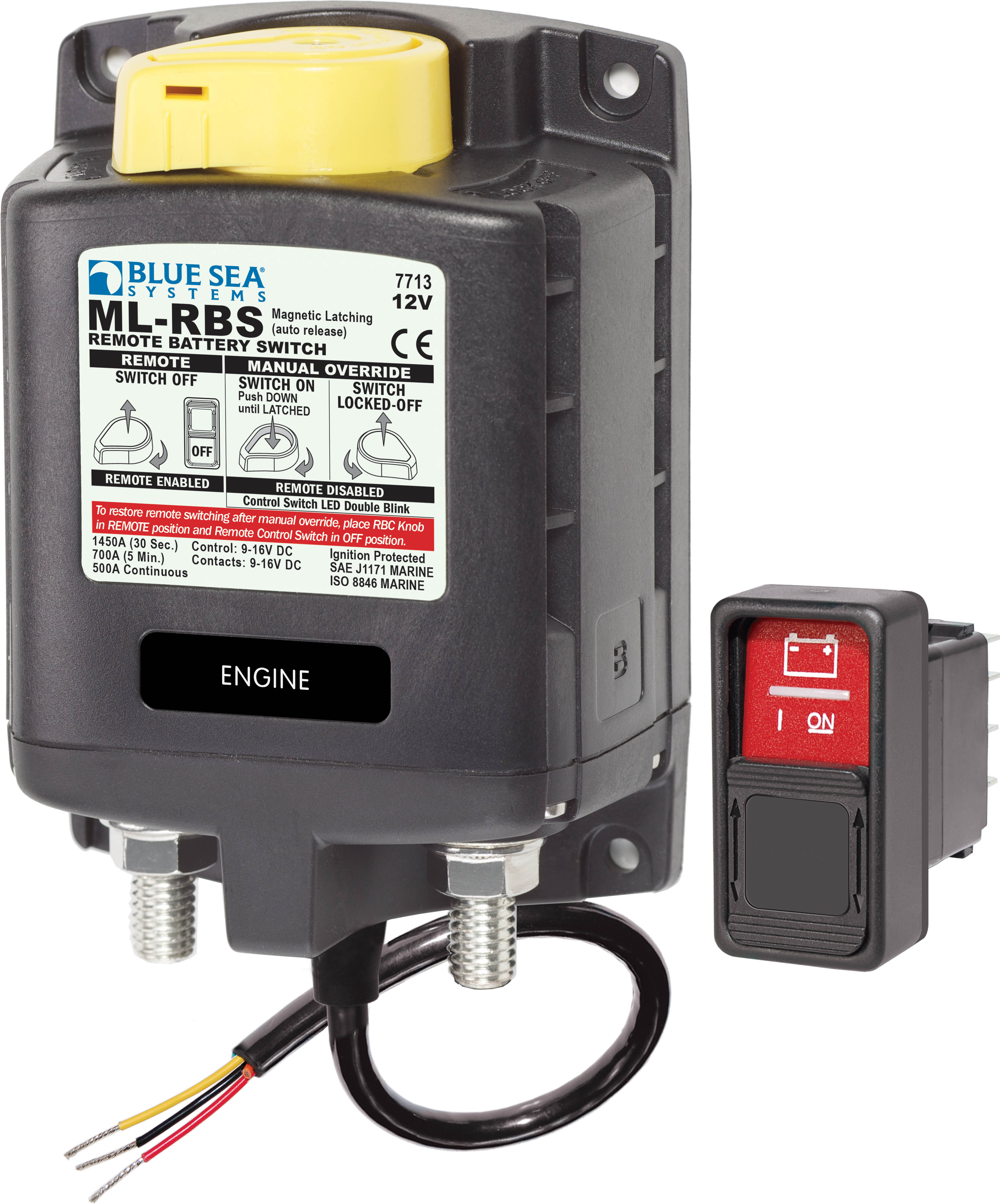 MLRBS Remote Battery Switch with Manual Control Auto