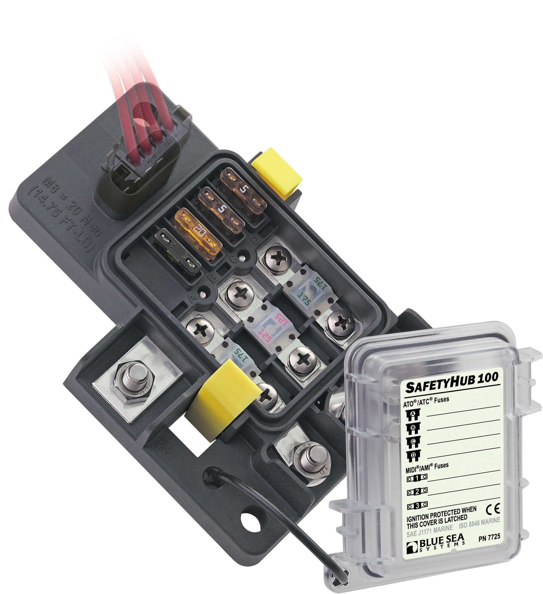 safetyhub 100 fuse block blue sea systems RV Fuse Box product image