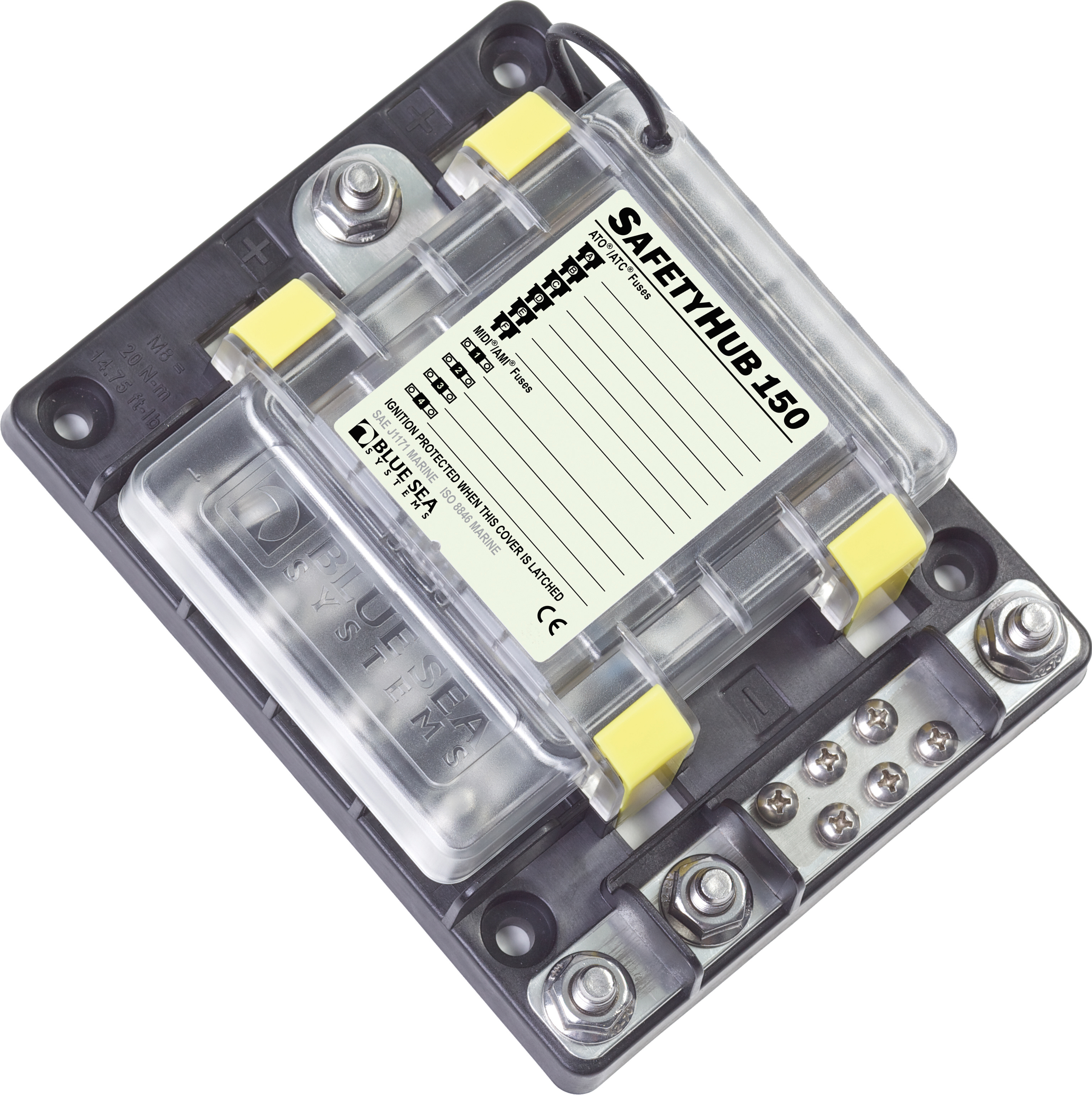 Safetyhub 150 Fuse Block Blue Sea Systems Smart Fortwo Box