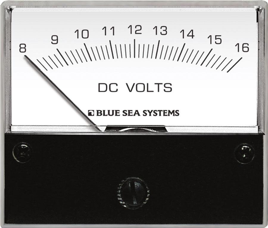DC Analog Voltmeter - 8 to 16V DC - Blue Sea Systems