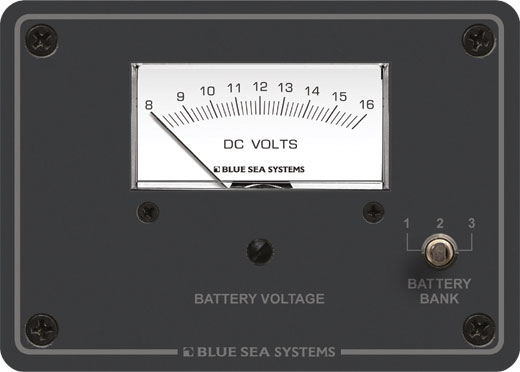 Dc Analog Voltmeter Panel 8 To 16v Dc Blue Sea Systems