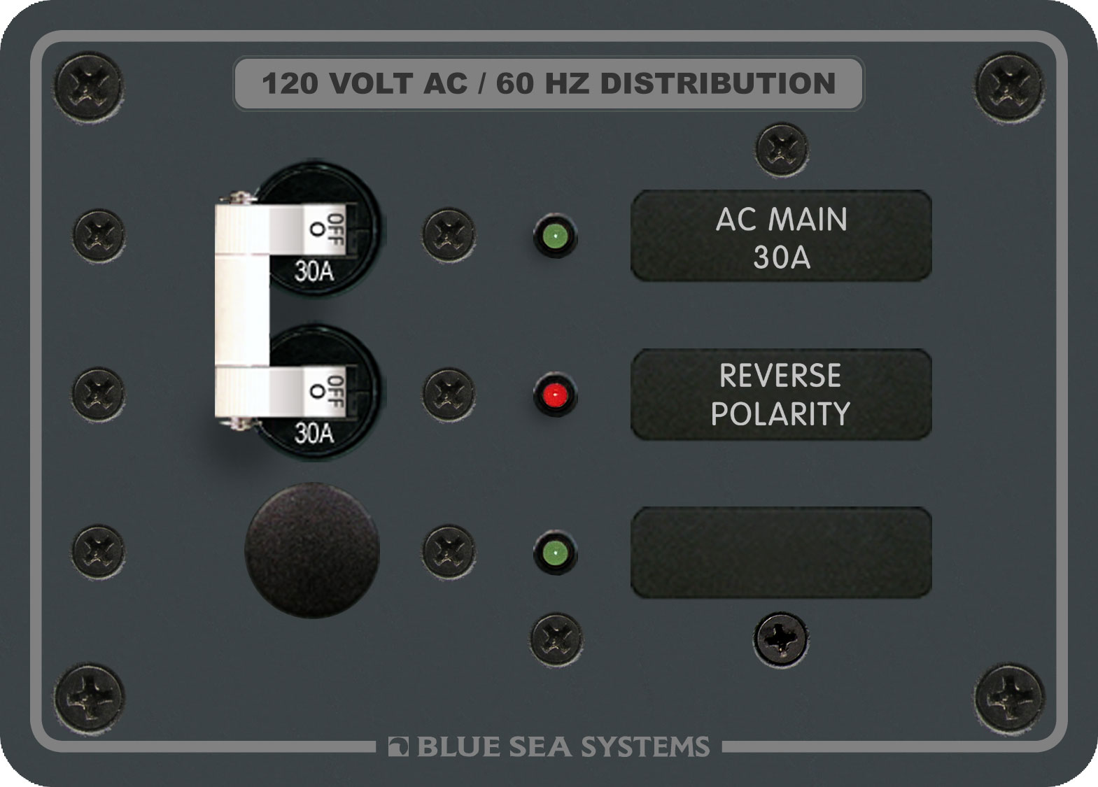 Traditional Metal Panel Ac Main 1 Positions Blue Sea Systems Wiring Product Image Panels