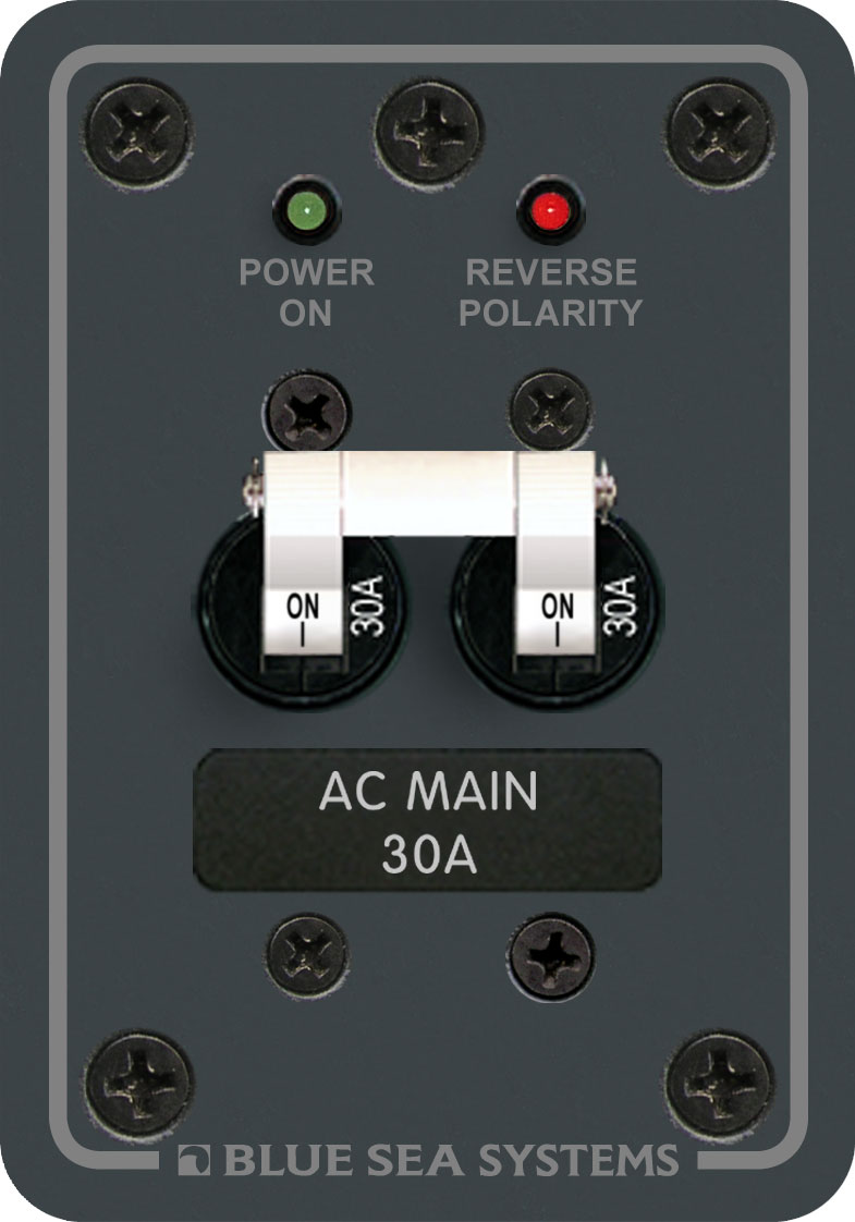 Ac Main 30a Blue Sea Systems 50 Amp Rv Breaker Panel Product Image