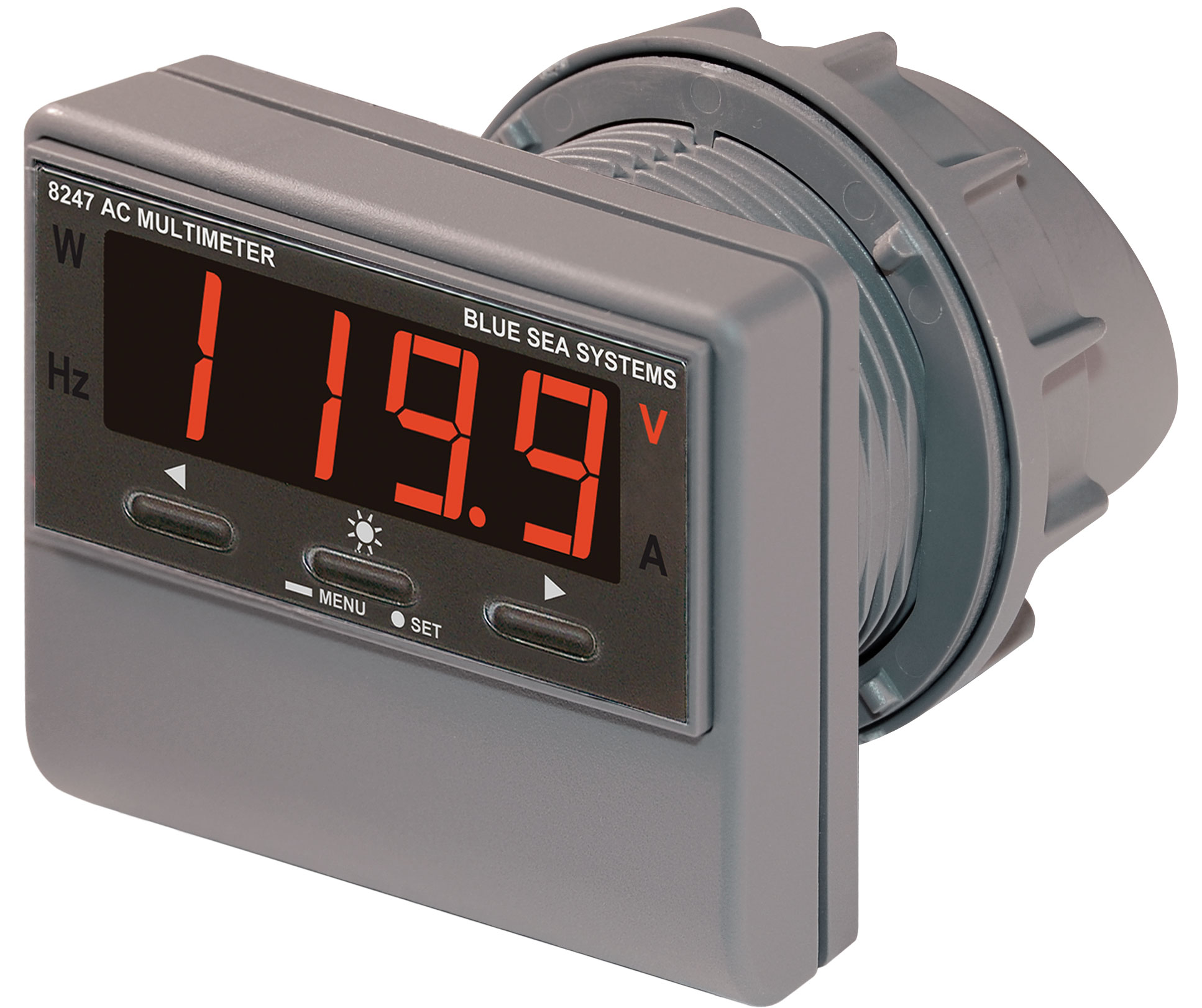 Multifunction Meter Front View : Ac digital multi function meter with alarm blue sea systems