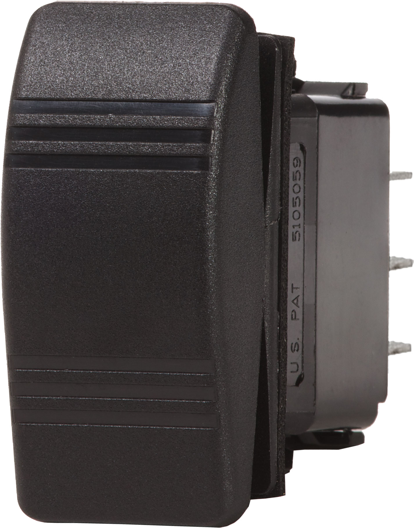 Contura Switch DPST Black - OFF-(ON) - Blue Sea Systems