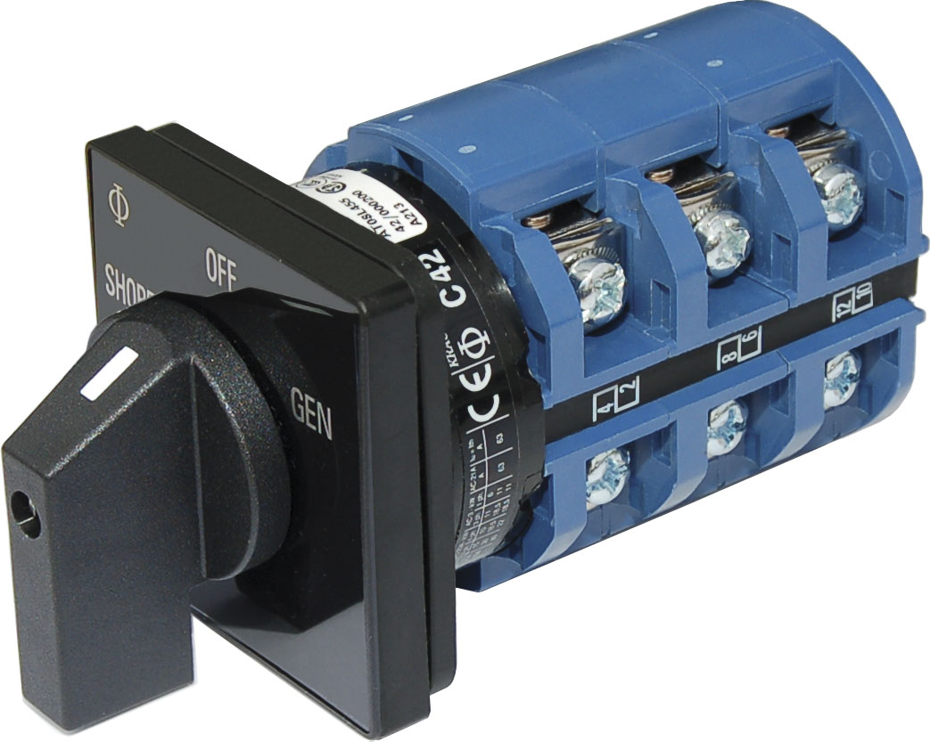 AC Rotary Switch OFF 2 Positions 240V AC 65A Blue Sea Systems