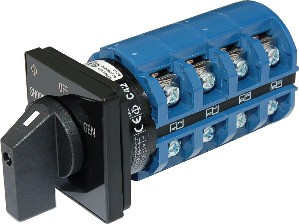 AC Rotary Switch - OFF + 2 Positions 120/240V AC 65A - Blue Sea Systems
