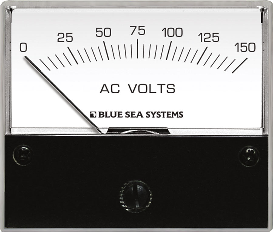 Product Image & AC Voltmeter - 0 to 150V AC - Blue Sea Systems